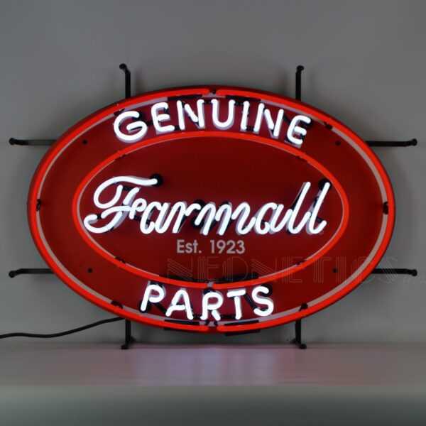FARMALL GENUINE PARTS OVAL NEON SIGN