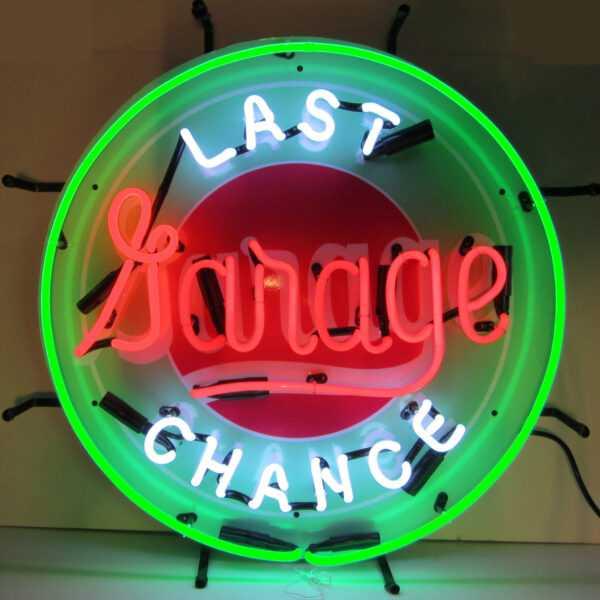 GAS - LAST CHANCE GARAGE NEON SIGN