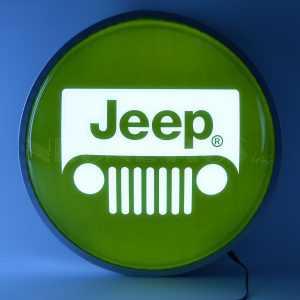 JEEP GREEN 15 INCH BACKLIT LED LIGHTED SIGN