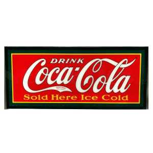 DRINK COCA-COLA SOLD HERE ICE COLD SLIM LED SIGN