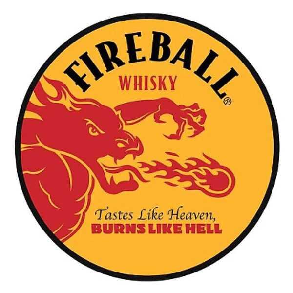 Fireball Whiskey Dome Metal Sign