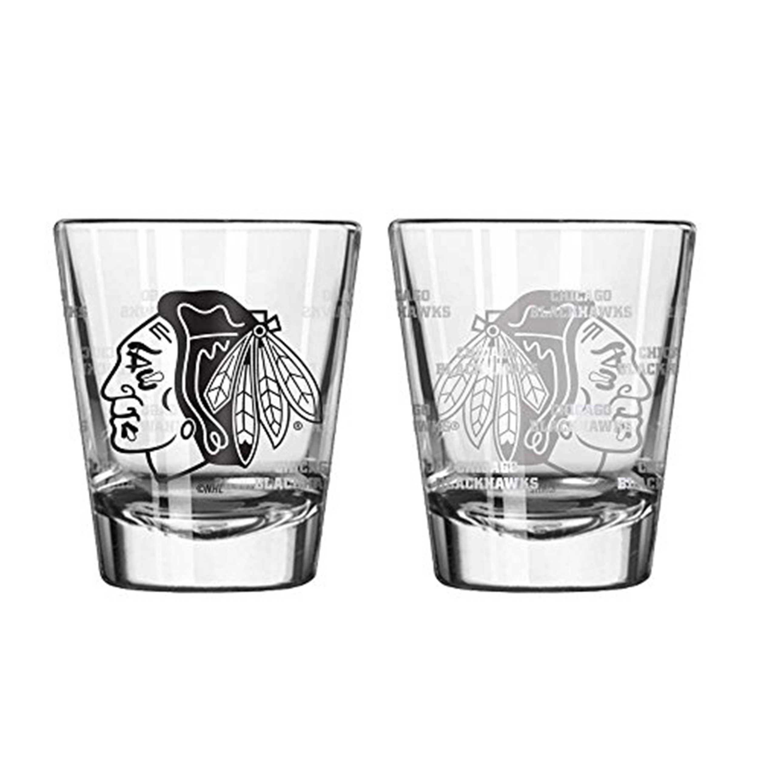 Sports Shot Glass Chicago Blackhawks