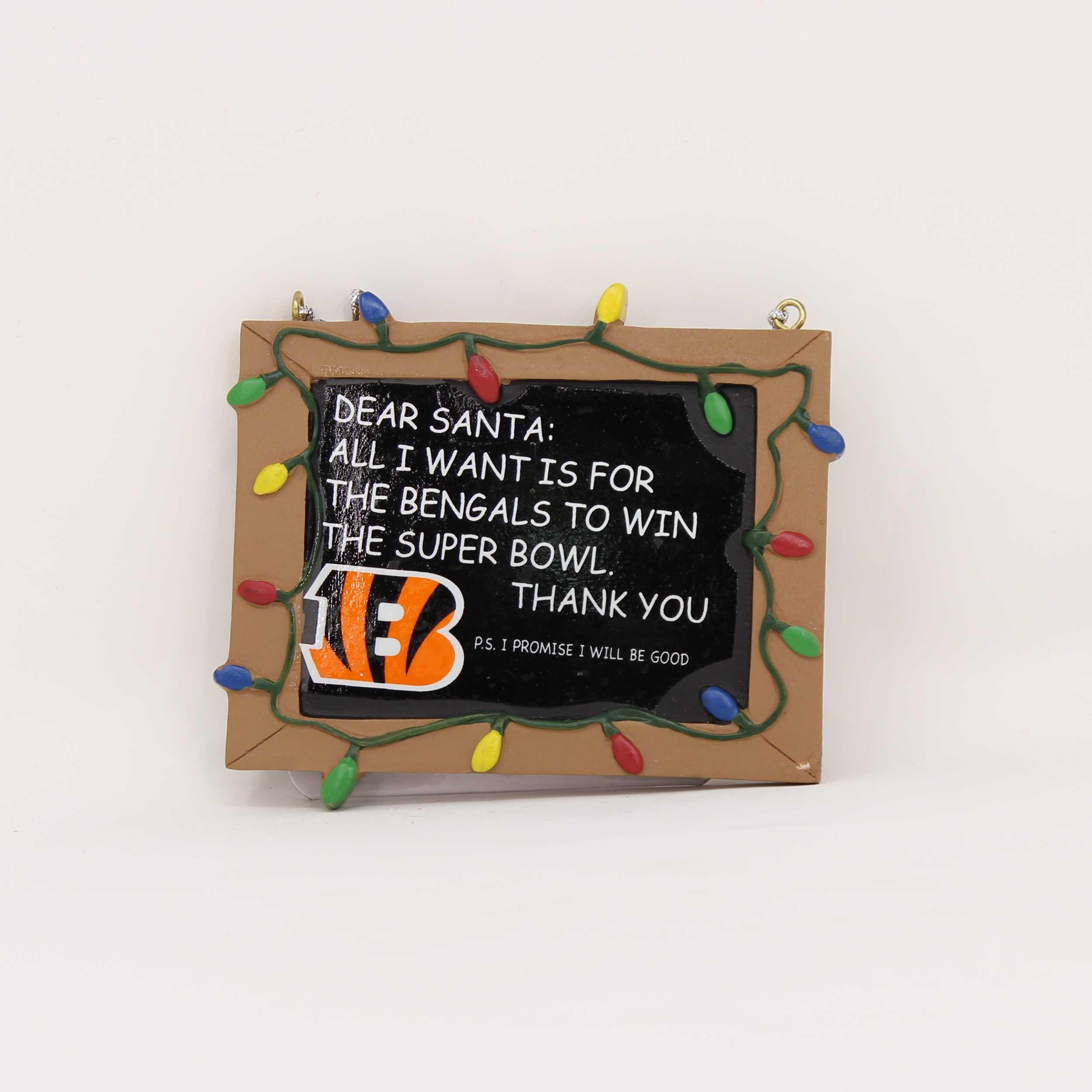 Cincinnati Bengals Chalkboard Sign Ornament