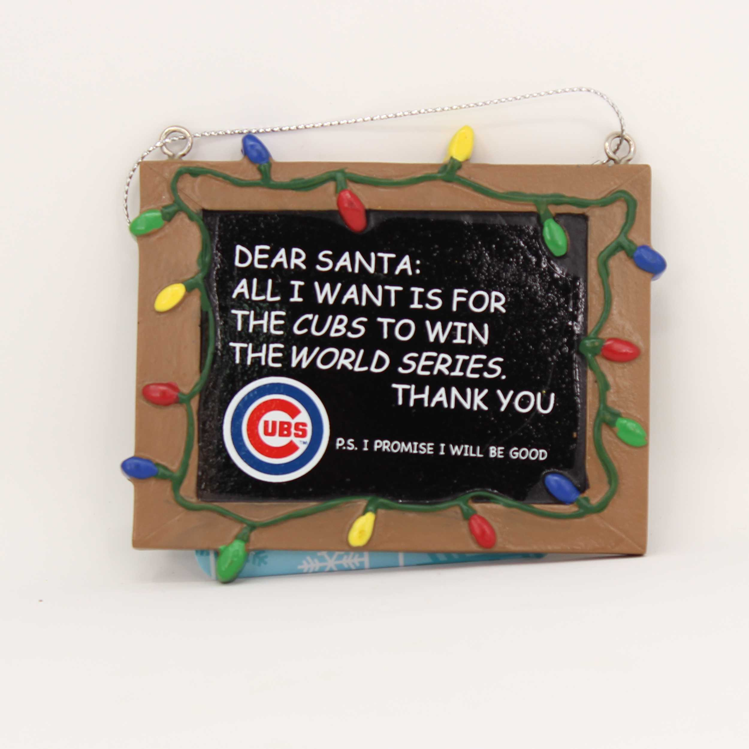 Chicago Cubs Chalkboard Sign Ornament