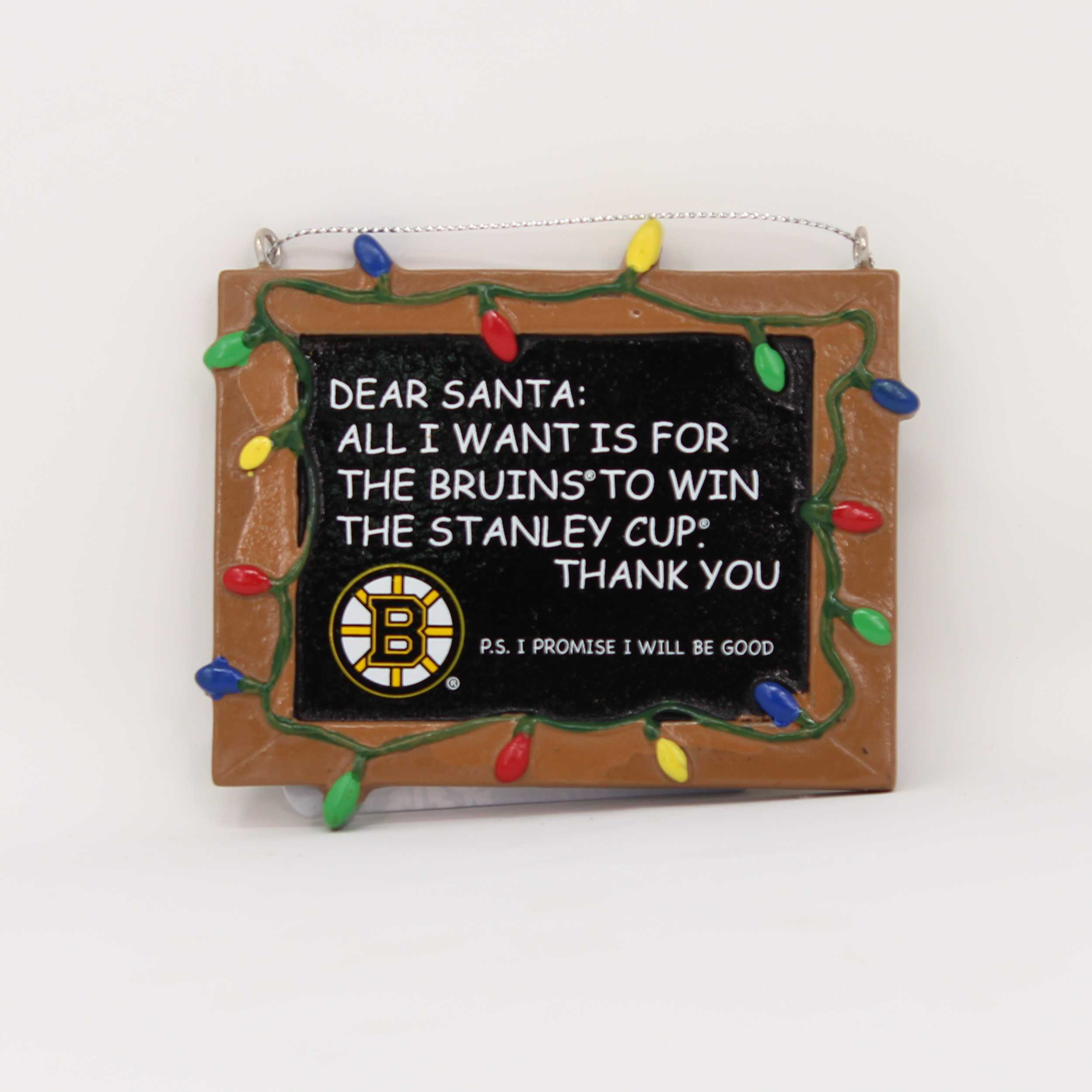 Boston Bruins Chalkboard Sign Ornament