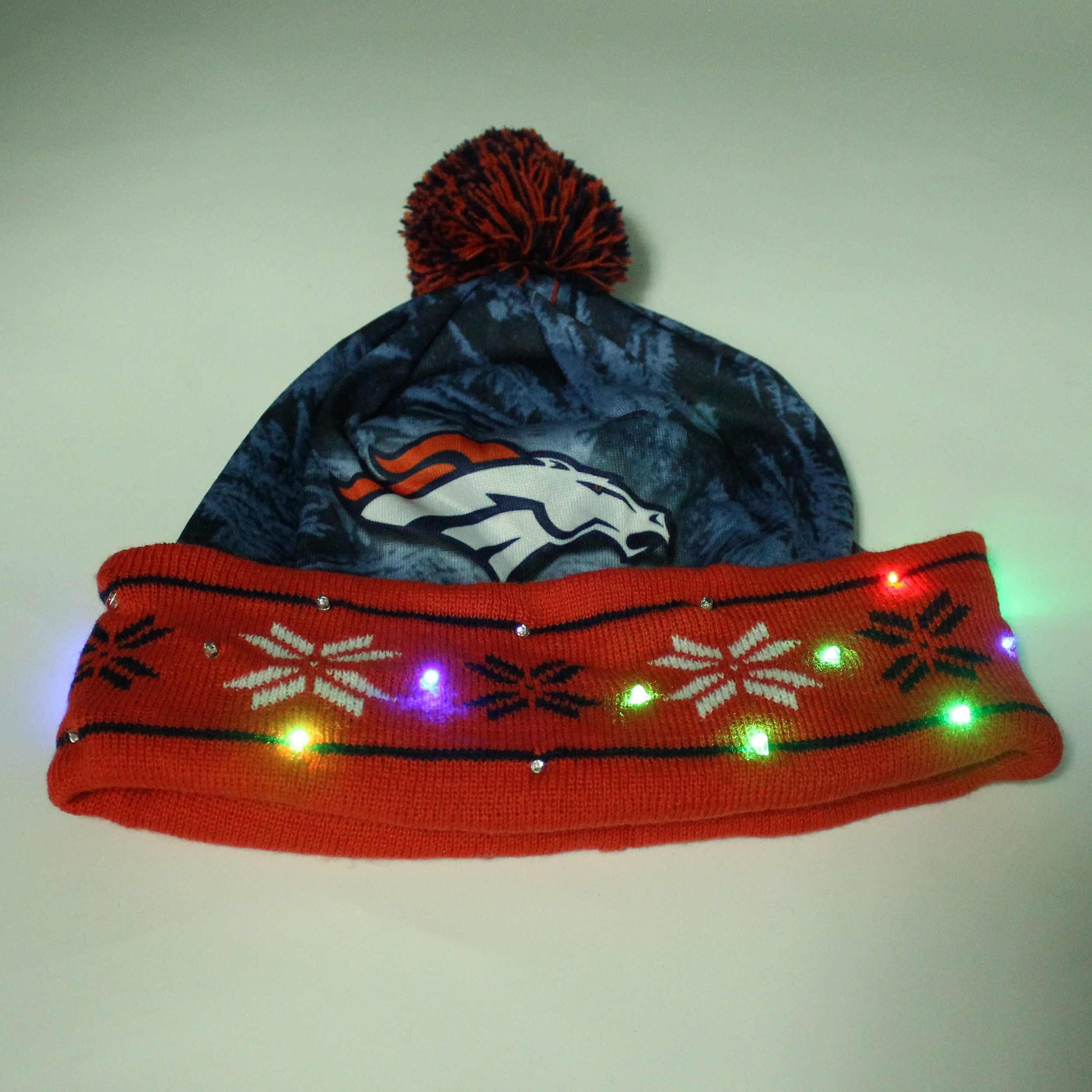 Sports Light Up Led Beanie Denver Broncos