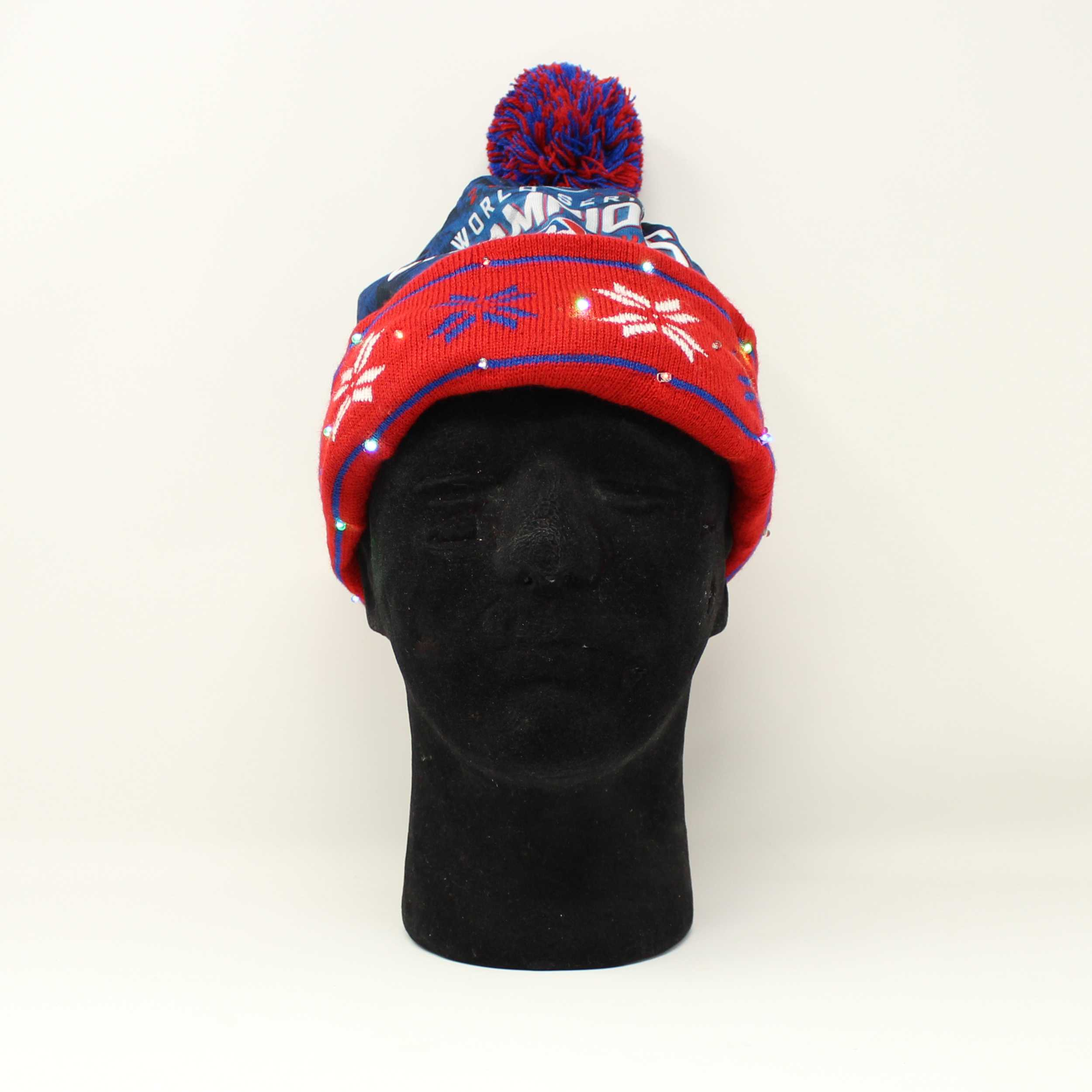 Sports Light Up Led Beanie Chicago Cubs World Series