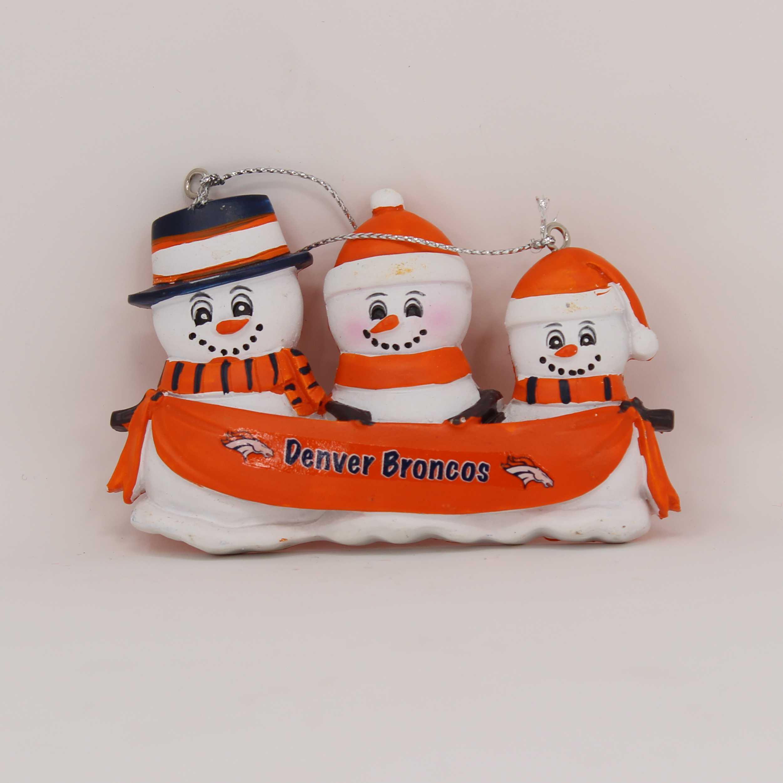 Personalized Family Ornament Denver Broncos