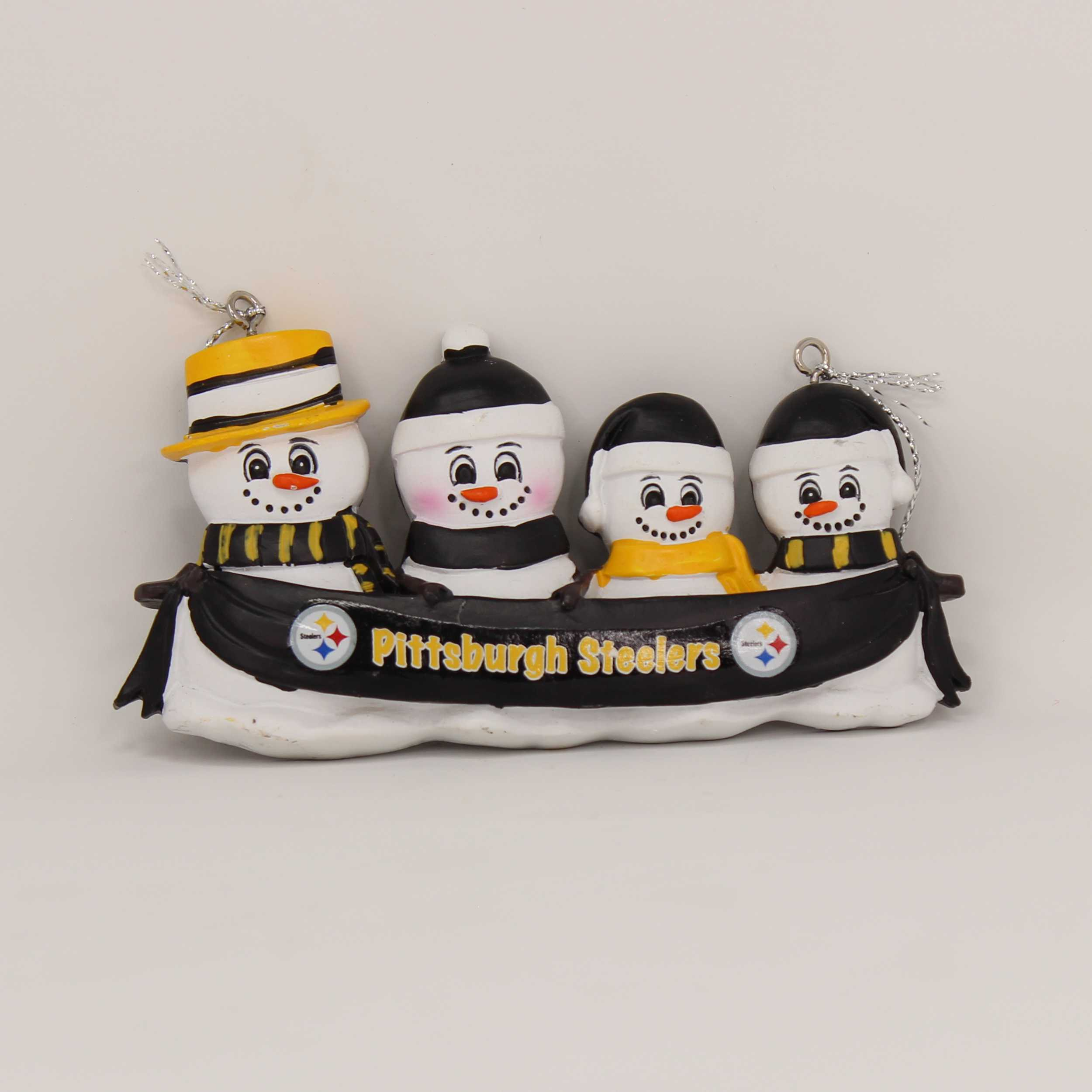 Personalized Family Ornament Pittsburgh Steelers