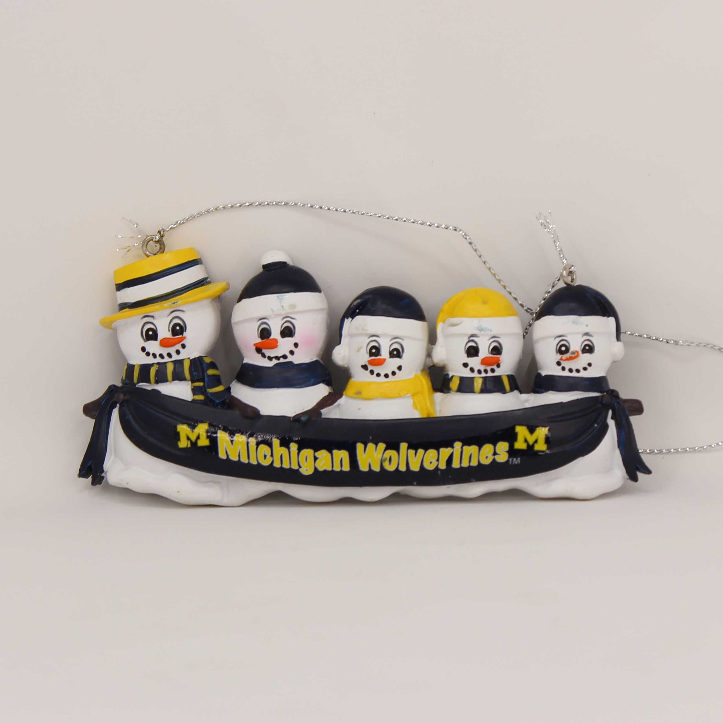 Personalized Family Ornament Michigan Wolverines