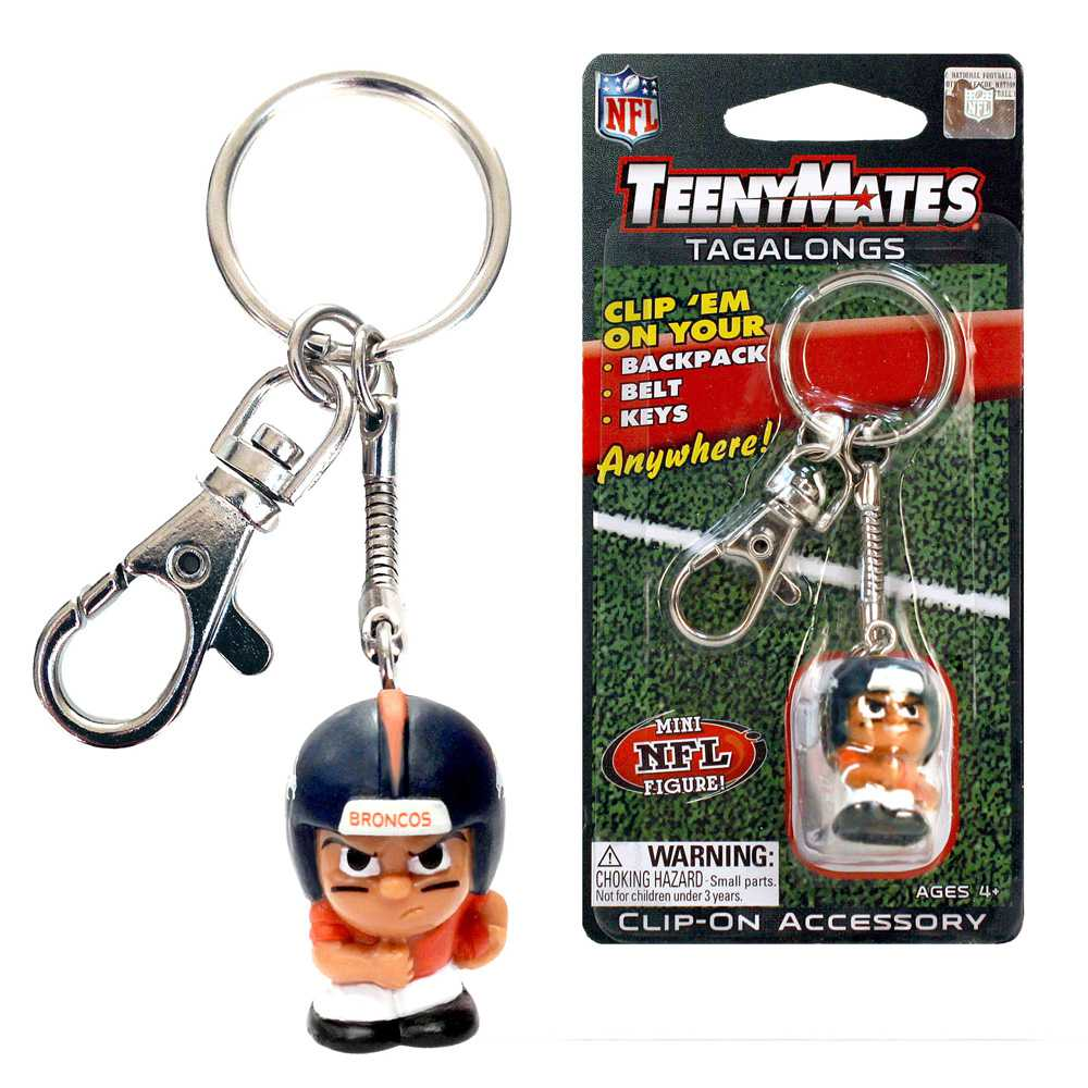 Teenymate Tagalongs Key Chain Denver Broncos