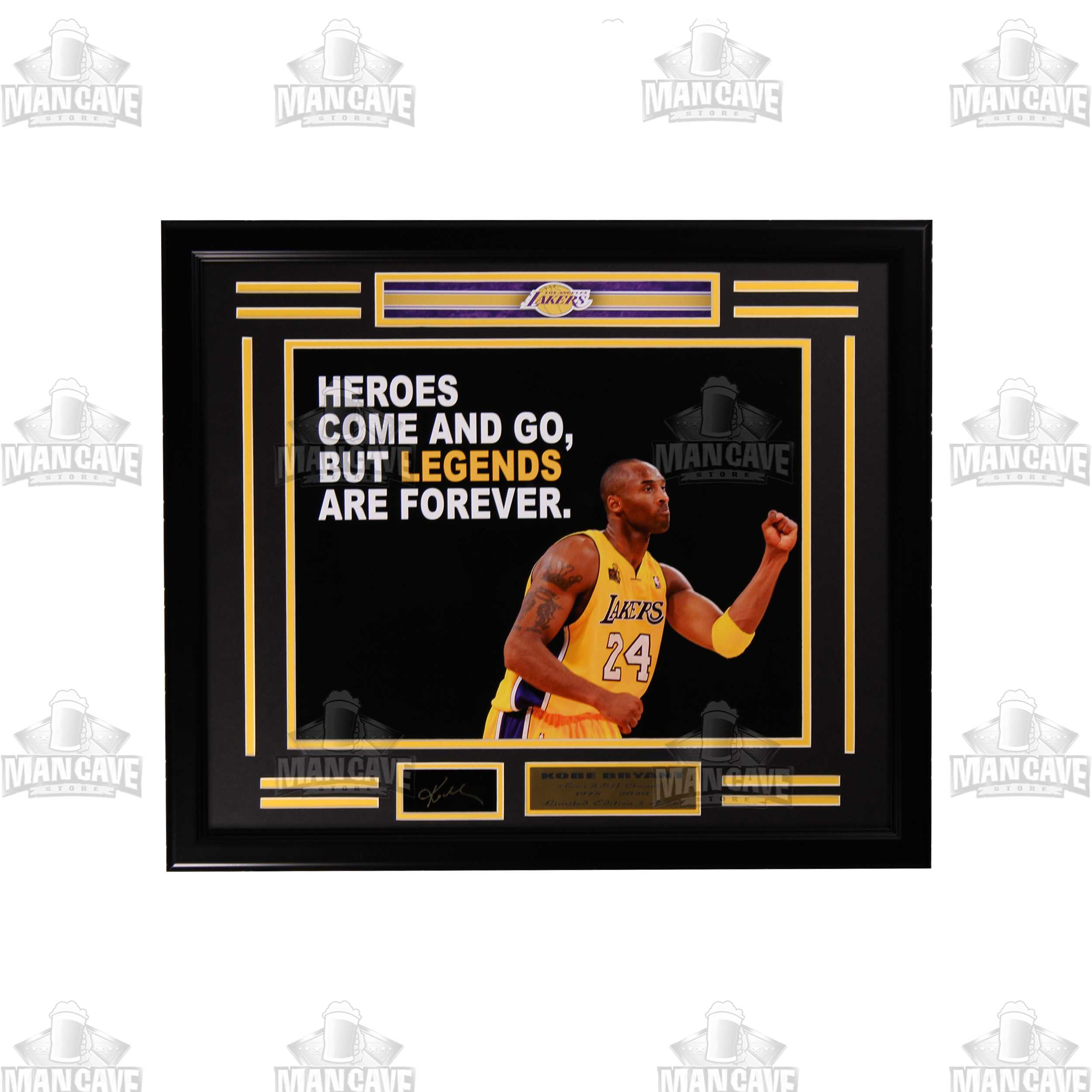 Kobe Bryant Legend Engraved Signature Large Frame