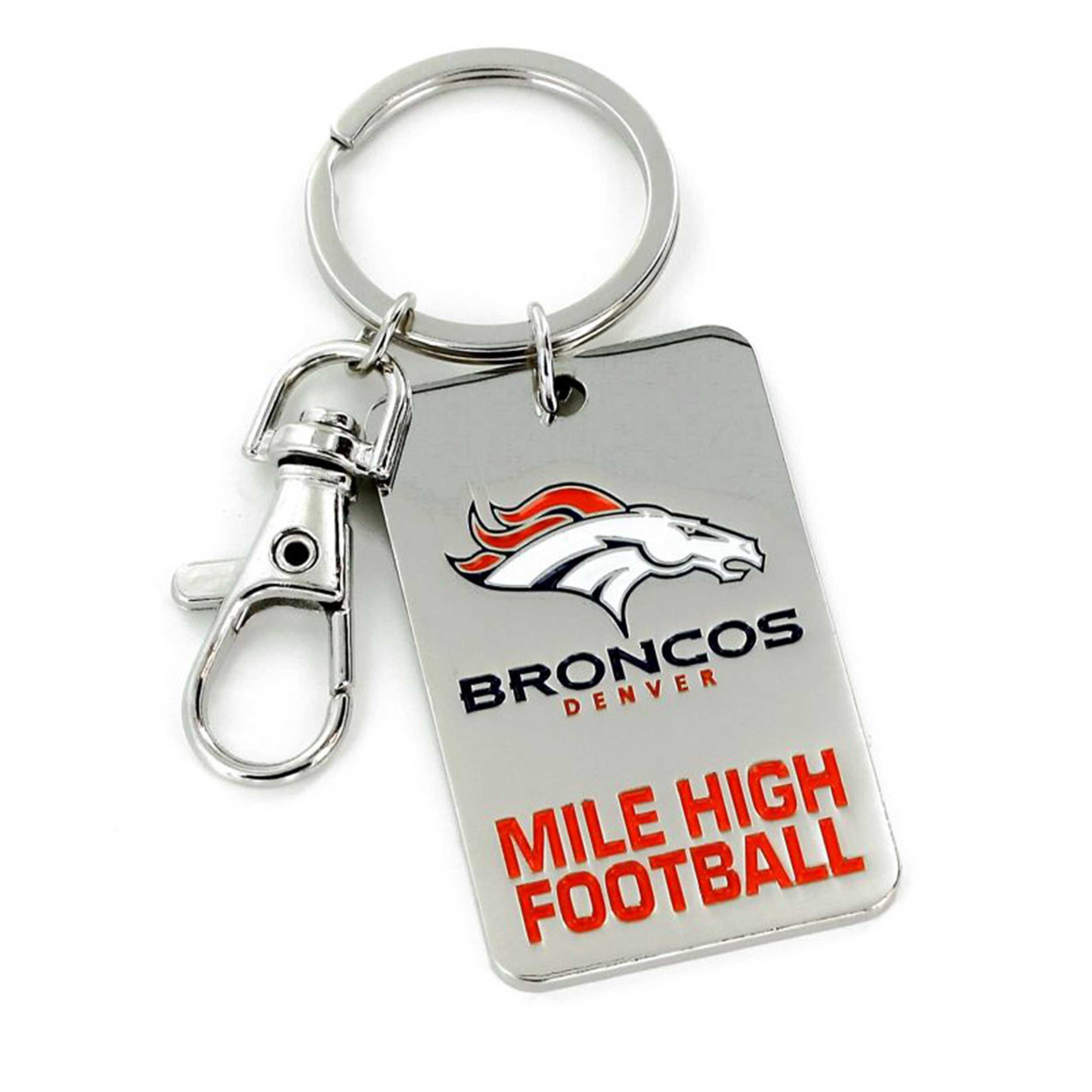 Slogan Keychain Denver Broncos
