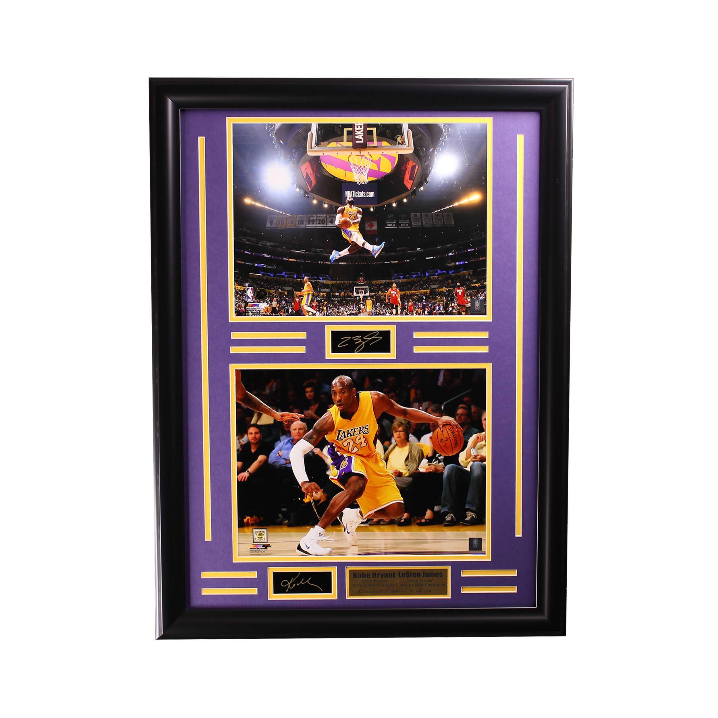 Kobe&Lebron Engraved Signature Large Frame