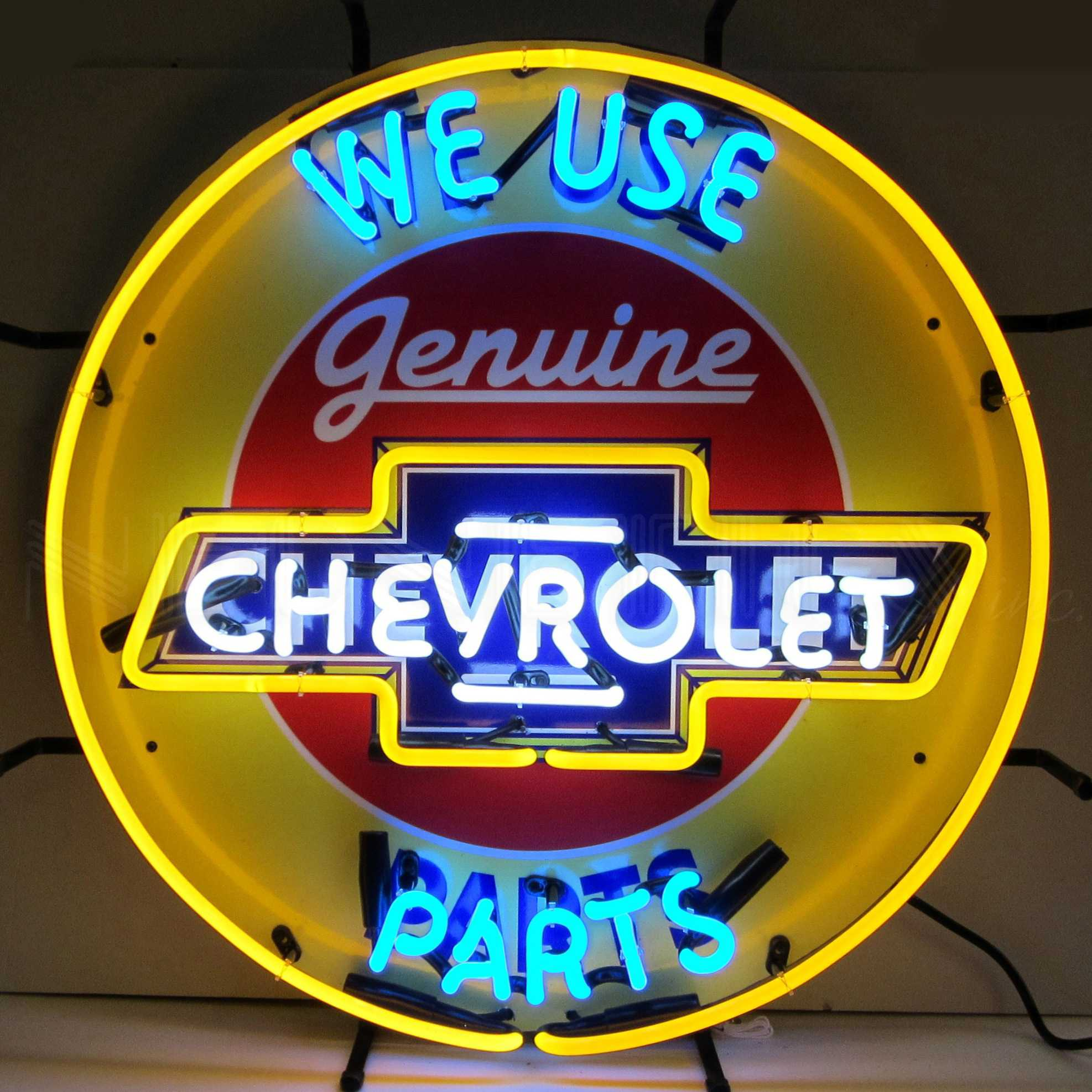 CHEVROLET PARTS NEON SIGN WITH BACKING