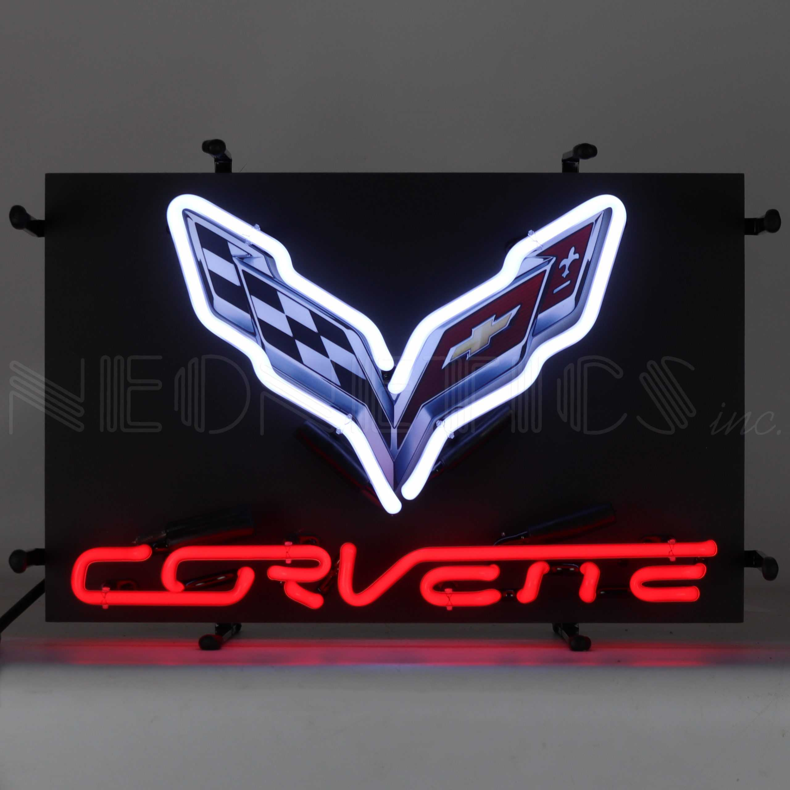 CORVETTE C7 JUNIOR NEON SIGN WITH BACKING
