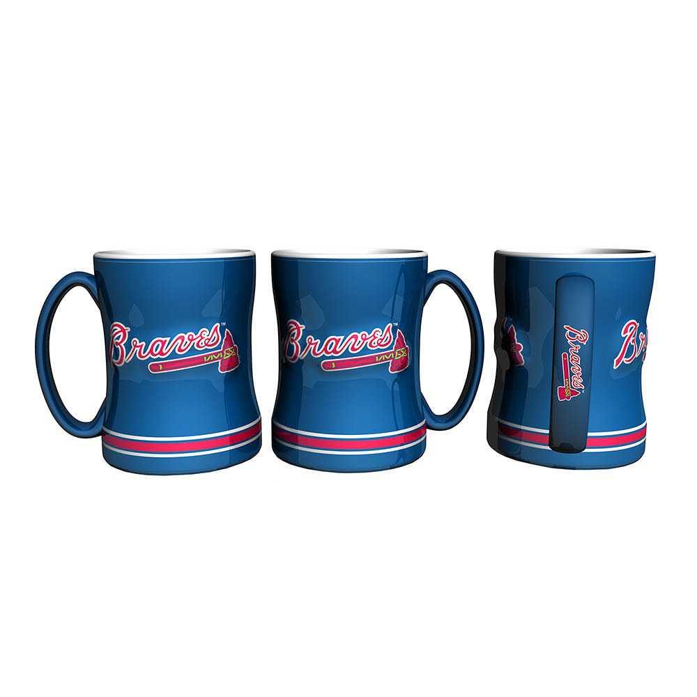 Atlanta Braves Sculpted Relief Mug