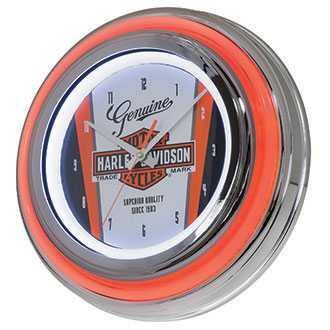 Harley DavidsonNostalgic Bar & Shield Double LED Clock