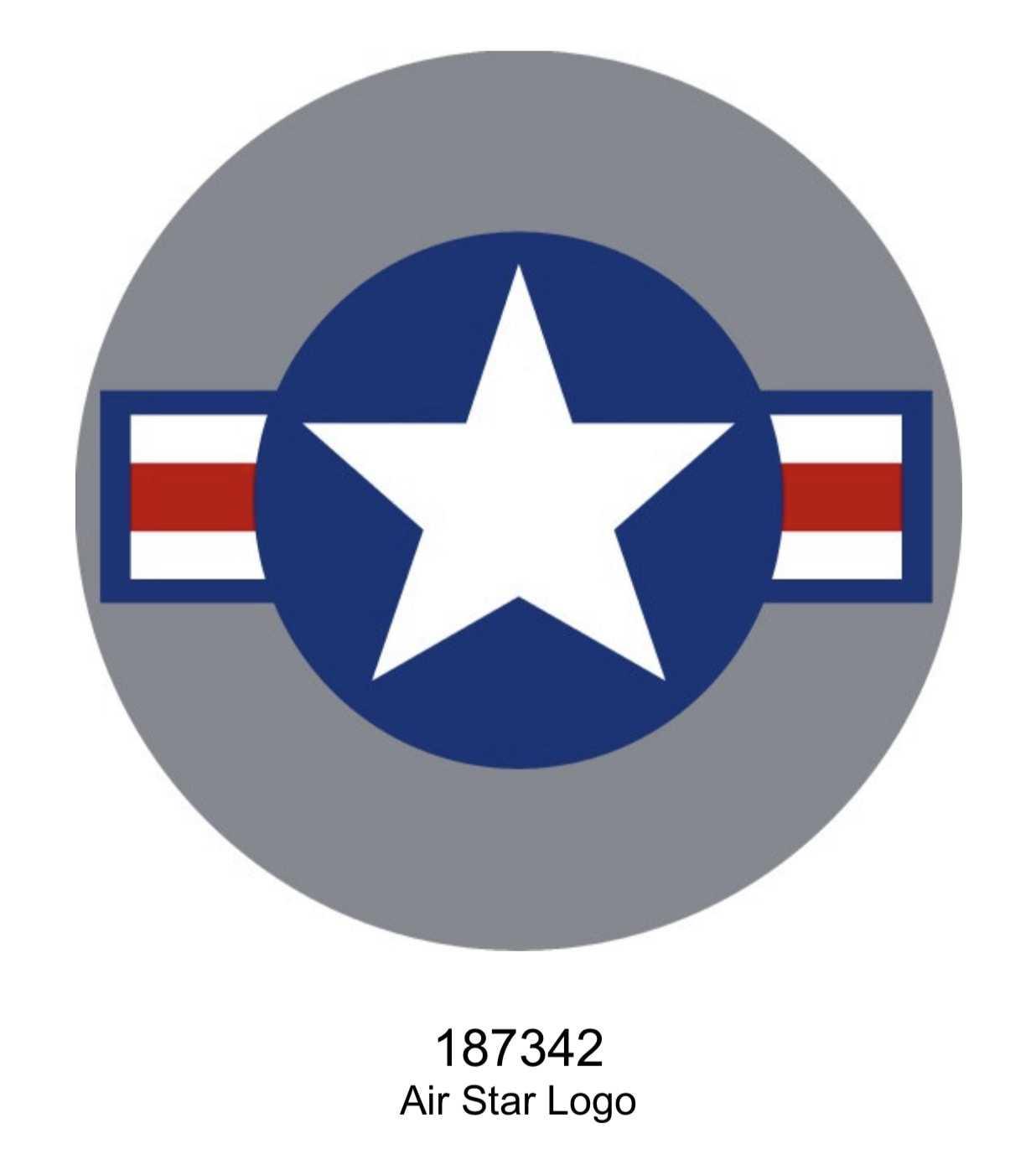 Air Star Logo Dome Metal Sign