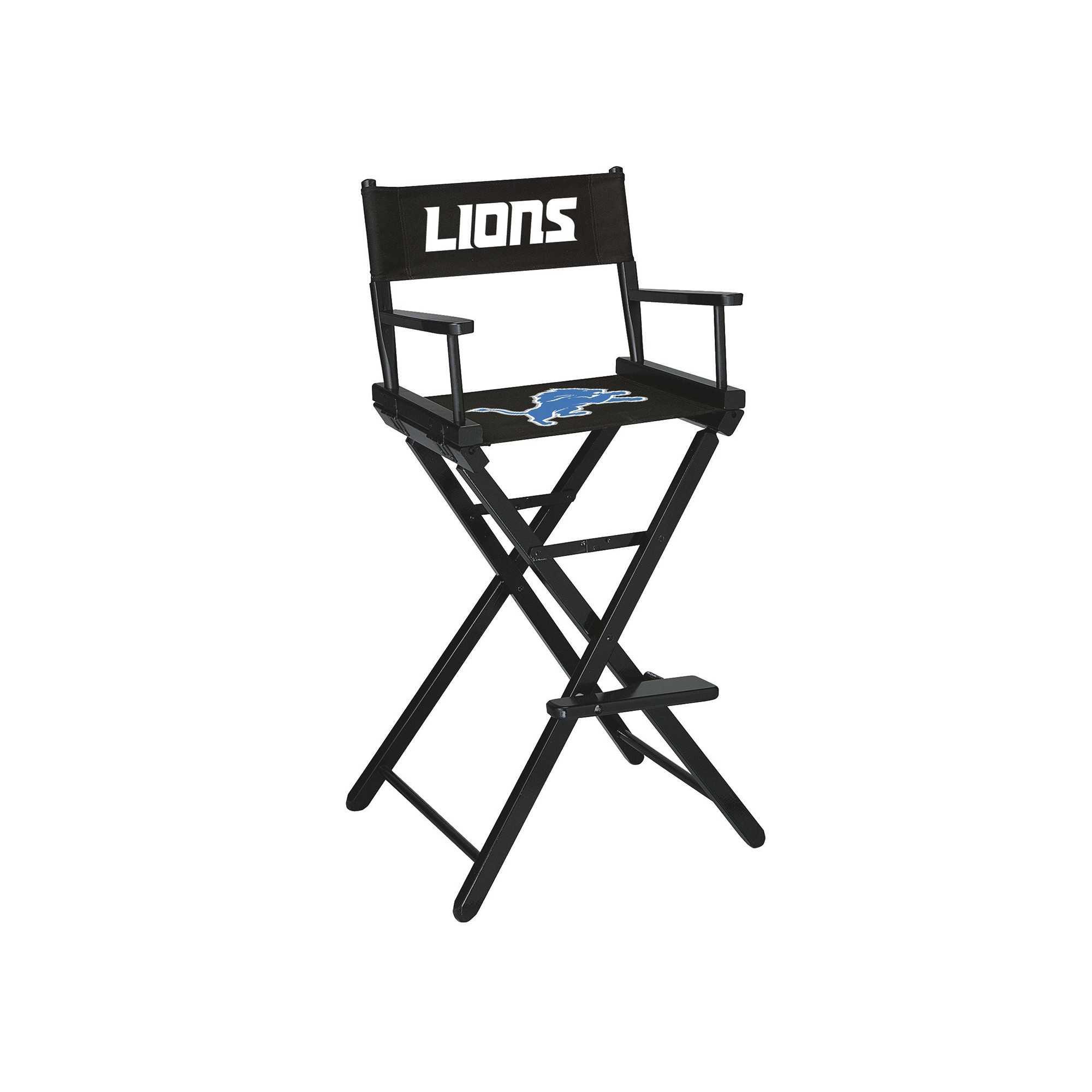 DETROIT LIONS BAR HEIGHT DIRECTORS CHAIR