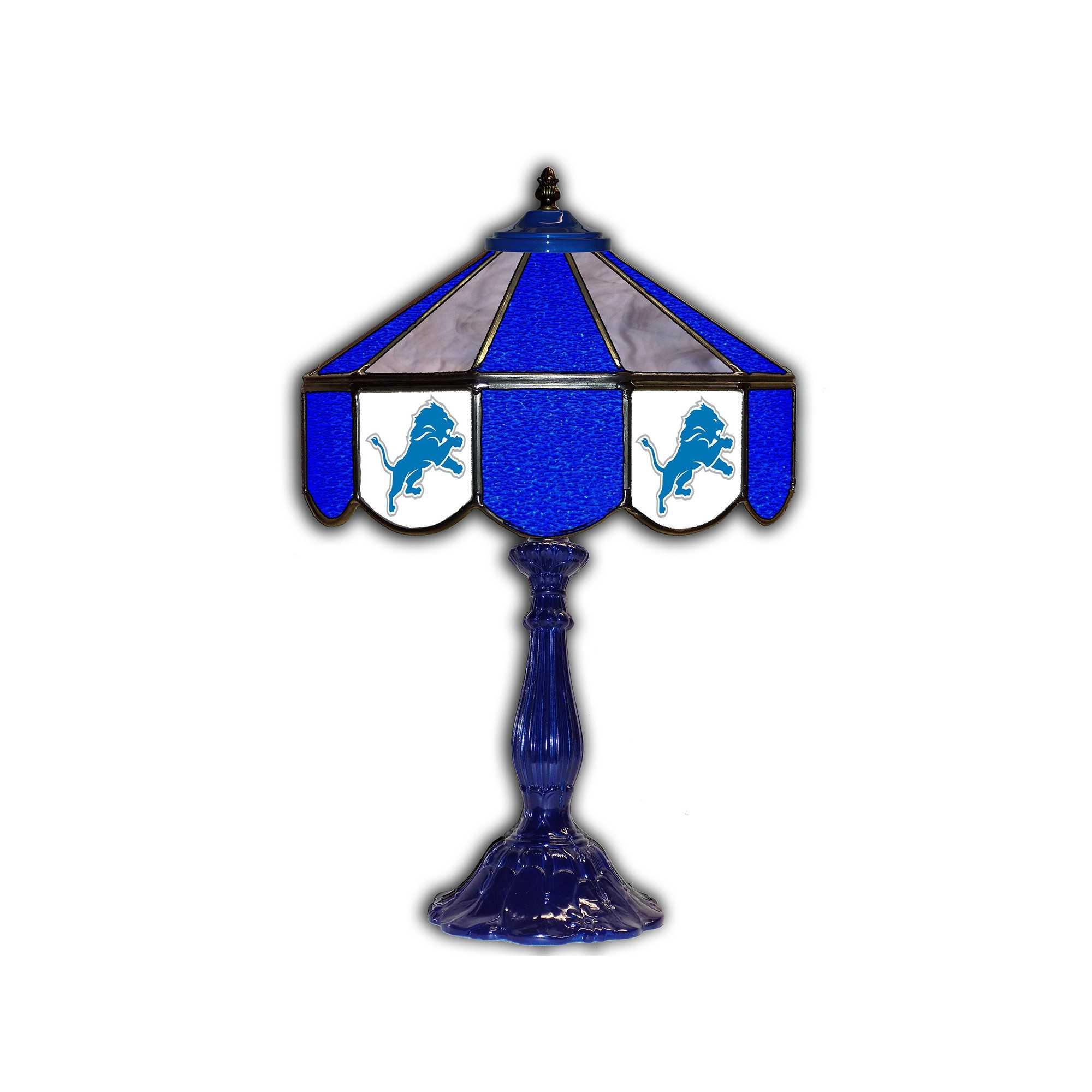 """DETROIT LIONS 21"""" GLASS TABLE LAMP"""