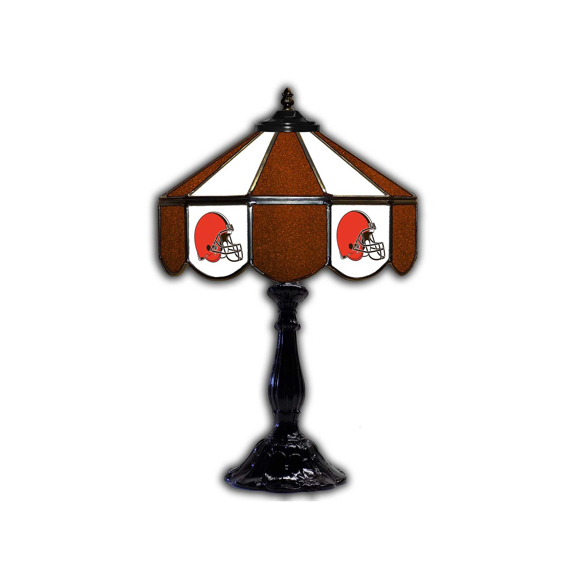 """CLEVELAND BROWNS 21"""" GLASS TABLE LAMP"""