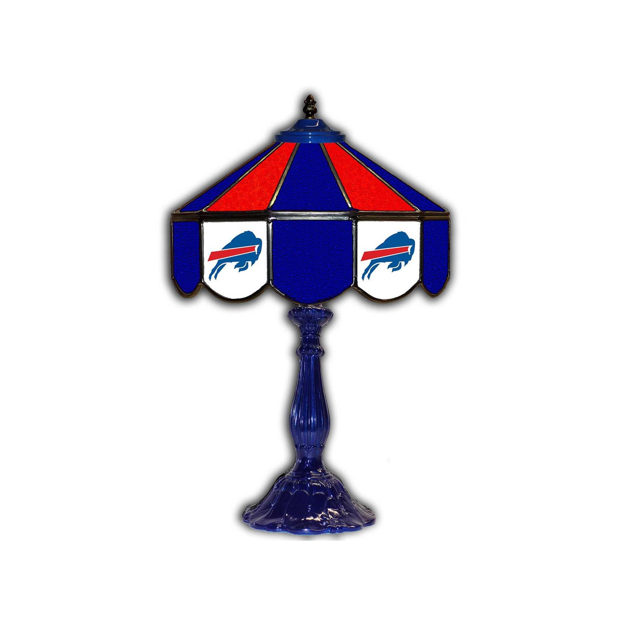 """BUFFALO BILLS 21"""" GLASS TABLE LAMP"""