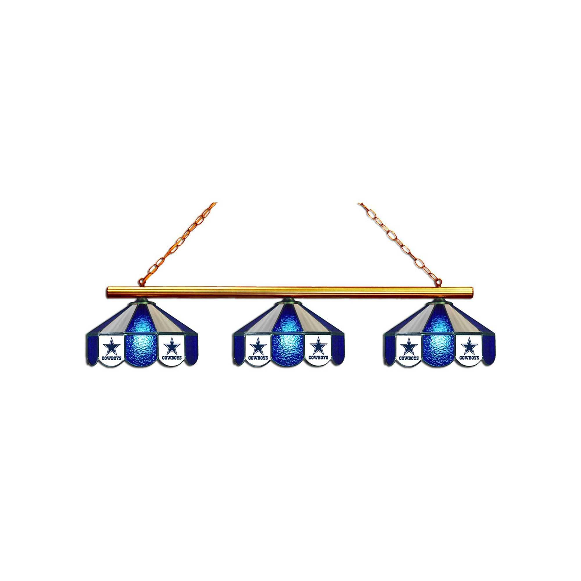 DALLAS COWBOYS GLASS 3 SHADE LAMP (BAR)