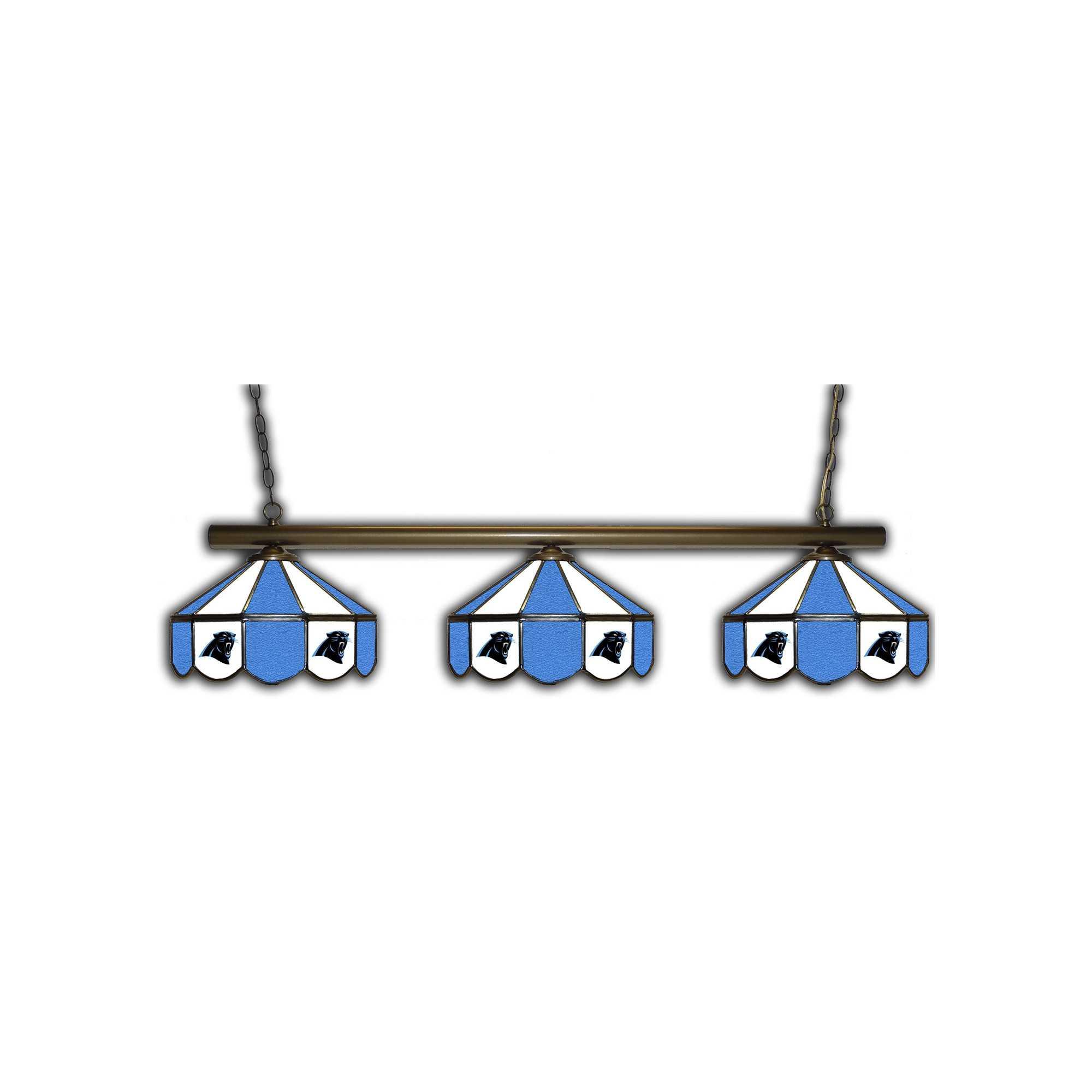 CAROLINA PANTHERS GLASS 3 SHADE LAMP (BAR)