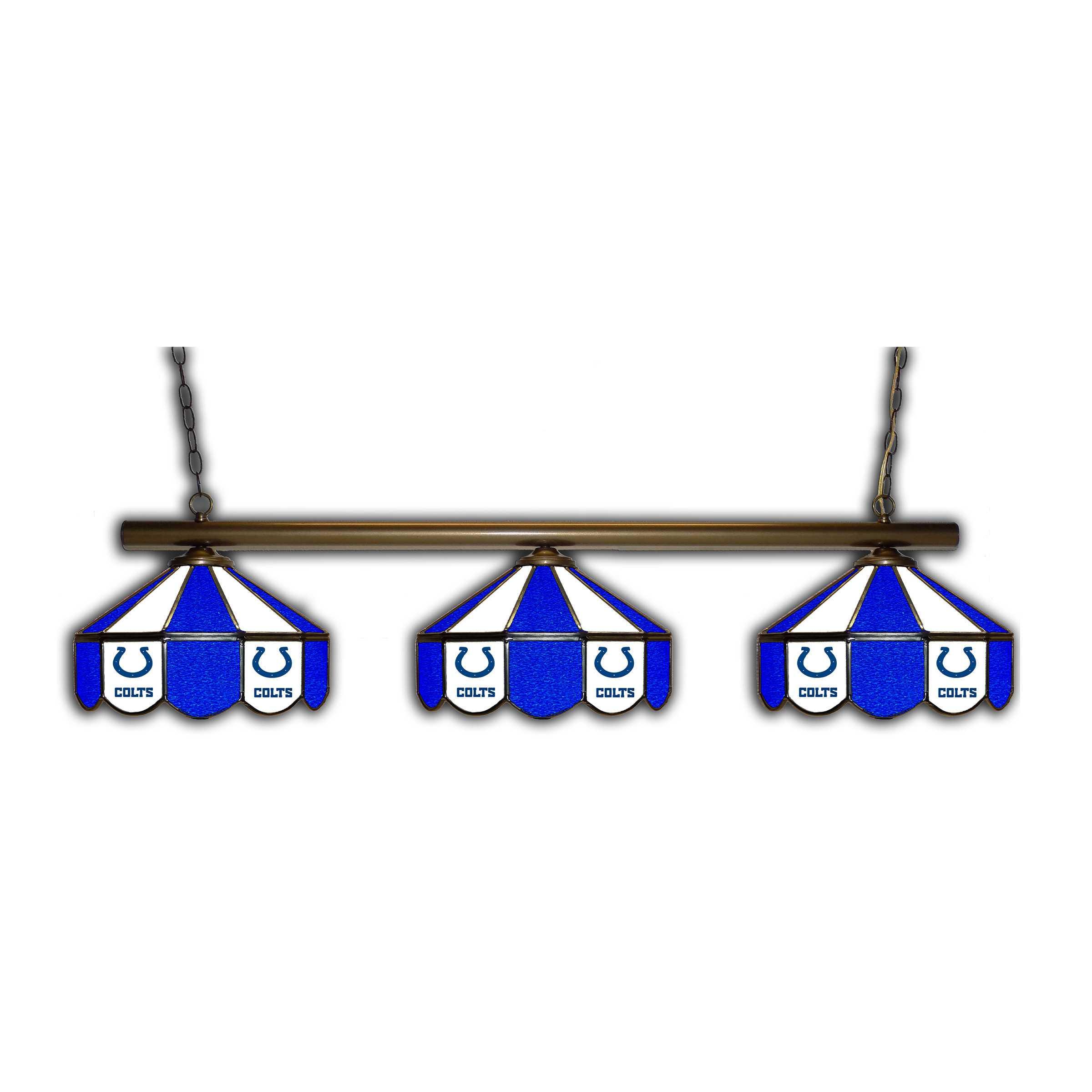 INDIANAPOLIS COLTS GLASS 3 SHADE LAMP (BAR)