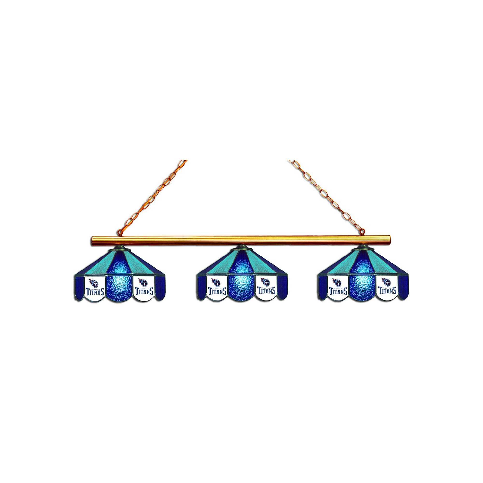TENNESSEE TITANS GLASS 3 SHADE LAMP (BAR)