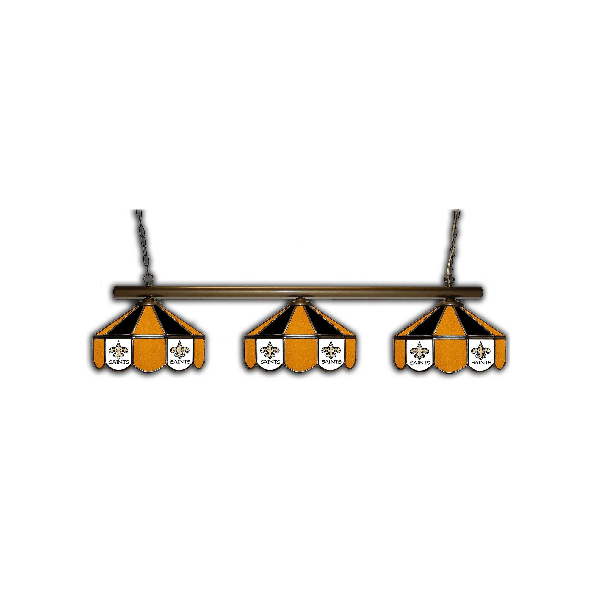 NEW ORLEANS SAINTS GLASS 3 SHADE LAMP (BAR)