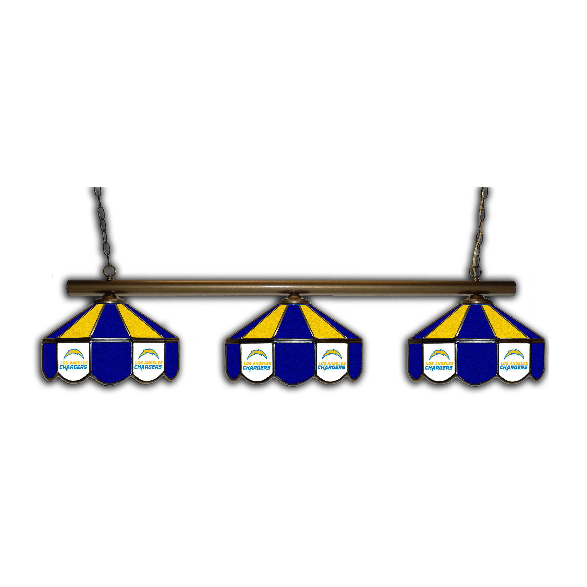 SAN DIEGO CHARGERS GLASS 3 SHADE LAMP (BAR)