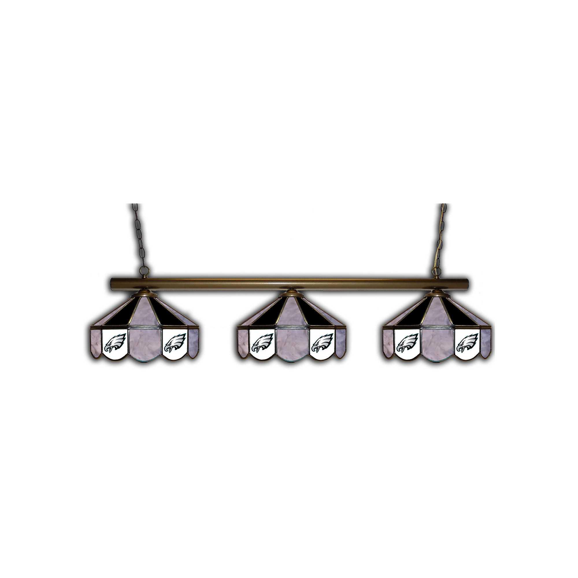 PHILADELPHIA EAGLES GLASS 3 SHADE LAMP (BAR)