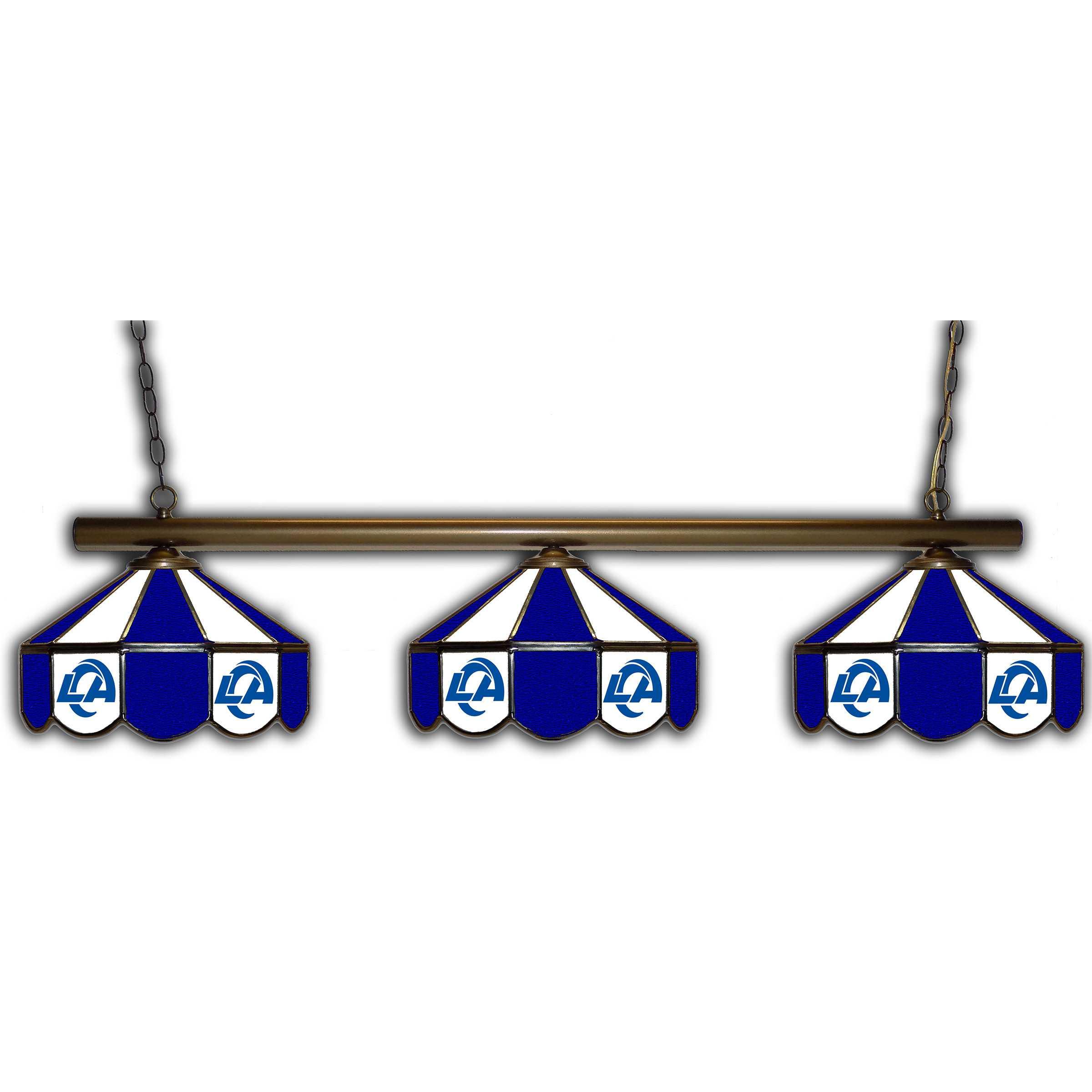 LOS ANGELES RAMS GLASS 3 SHADE LAMP (BAR)