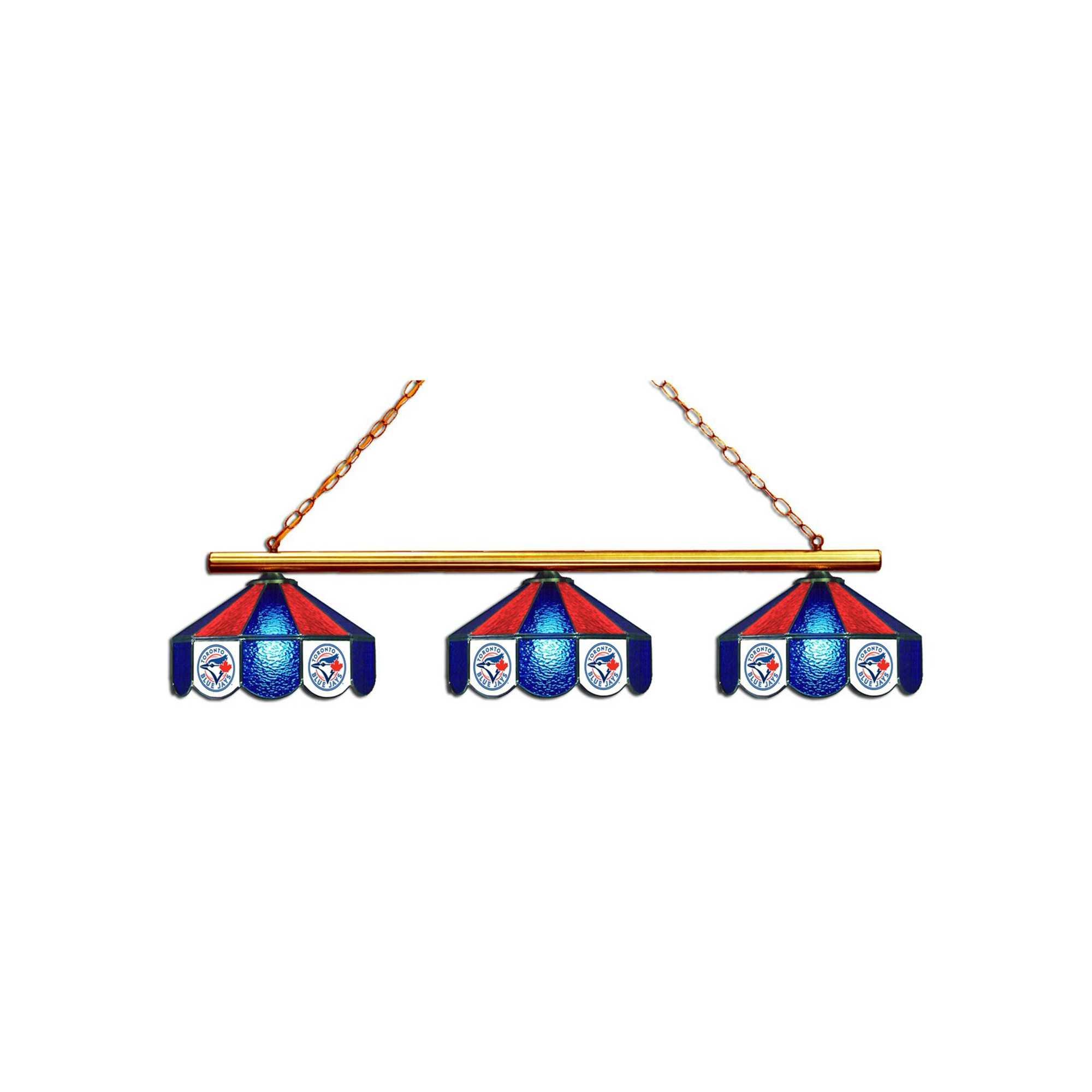 TORONTO BLUE JAYS 3 SHADE GLASS LAMP