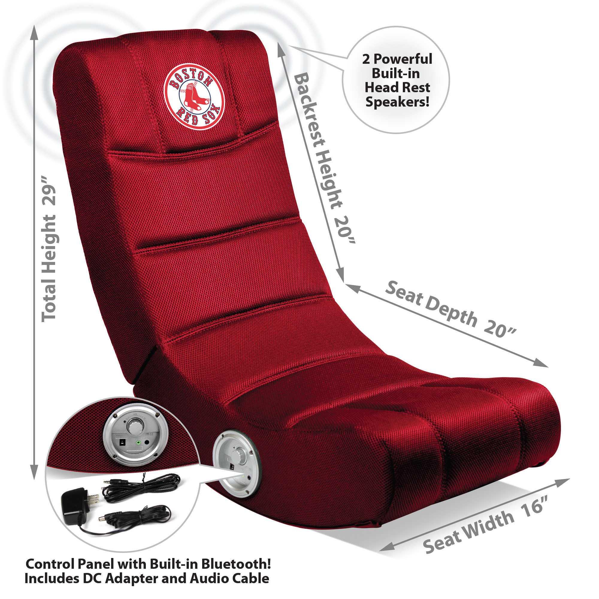 Boston Red Sox Video Chair W/ Bluetooth