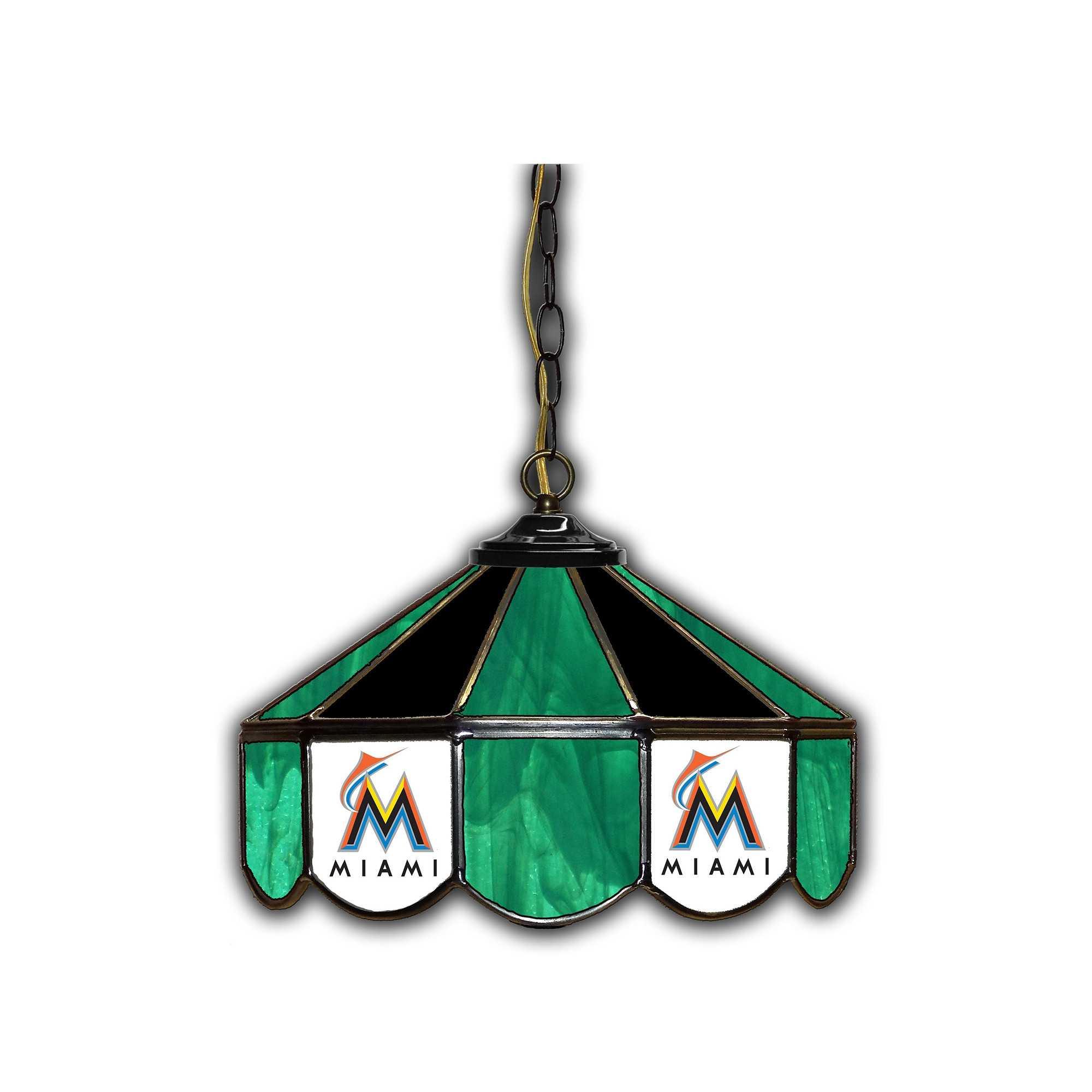 "MIAMI MARLINS 14""GLASS LAMP"