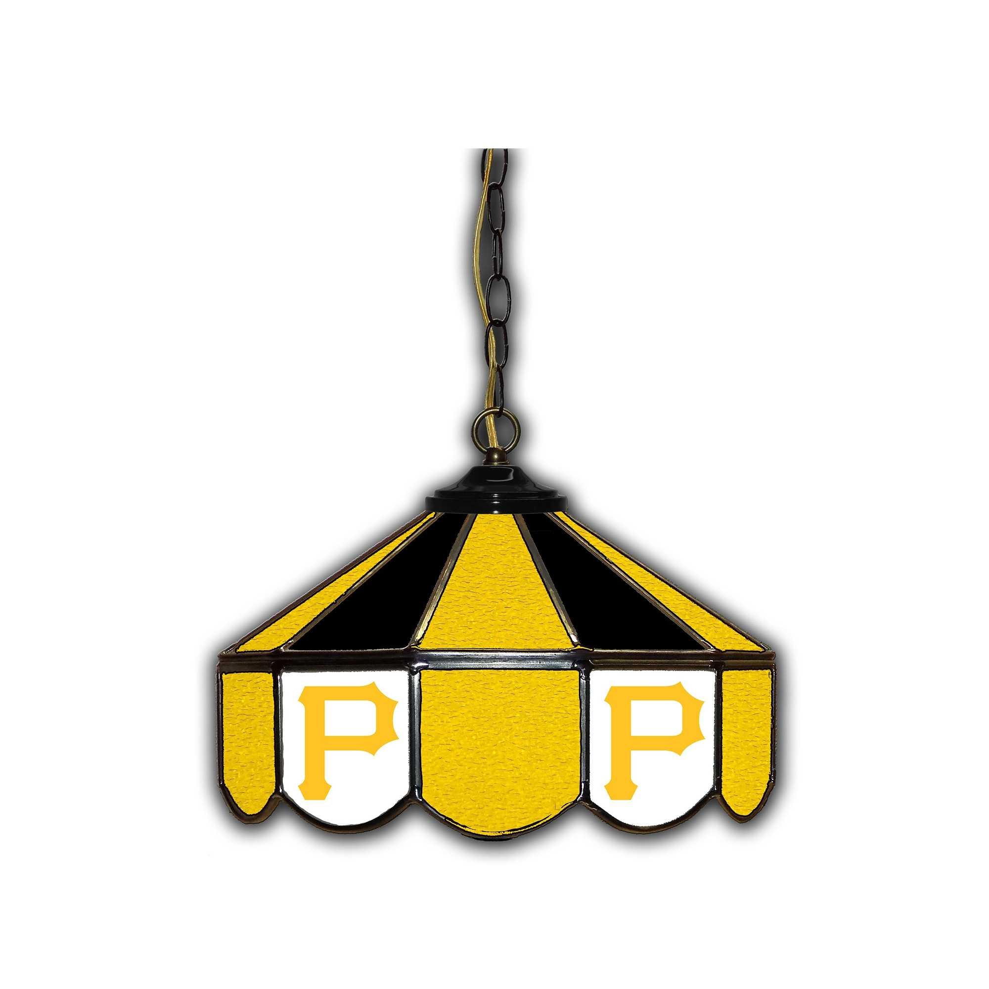 "PITTSBURG PIRATES 14"" GLASS PUB LAMP"