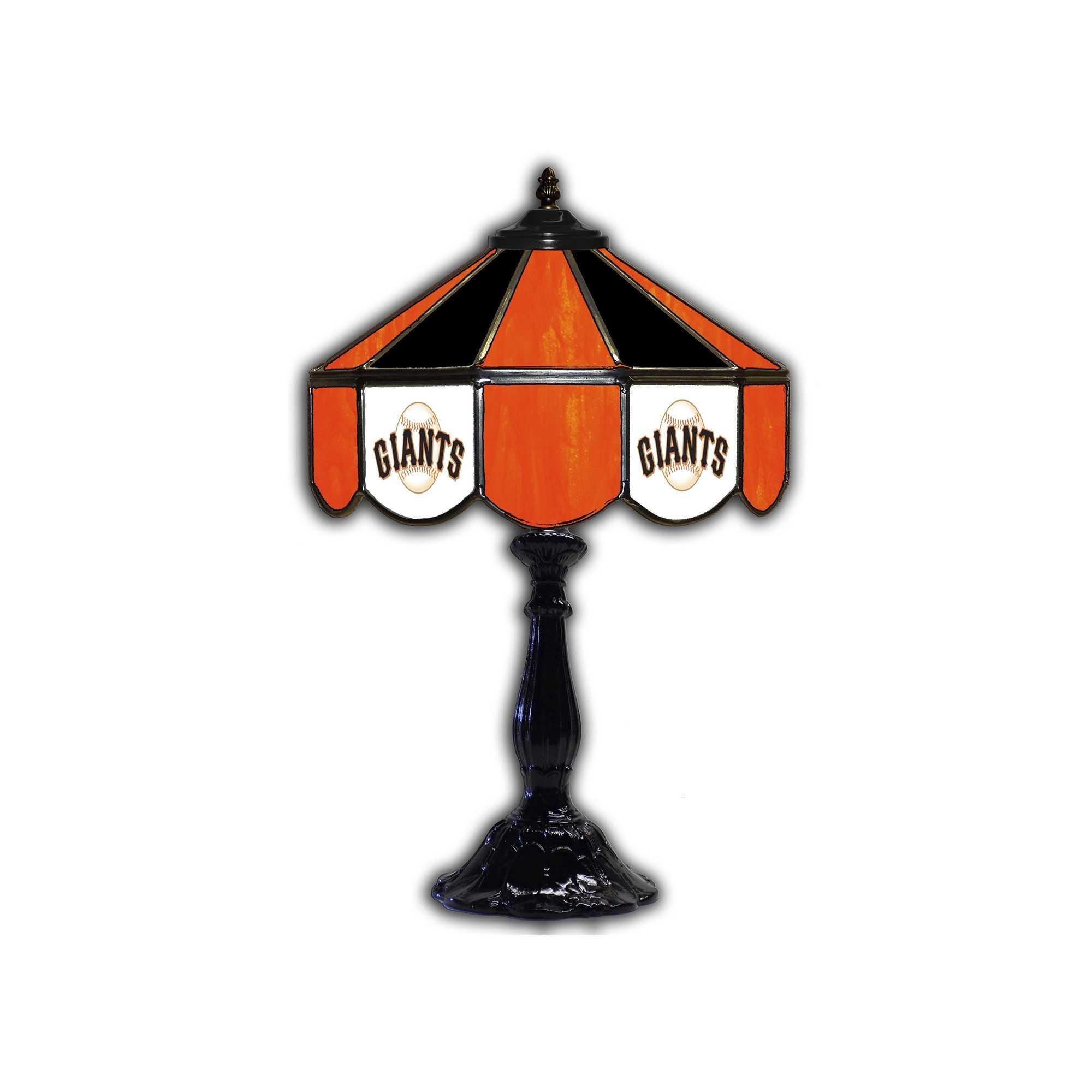 "SAN FRANCISCO GIANTS 21"" GLASS TABLE LAMP"