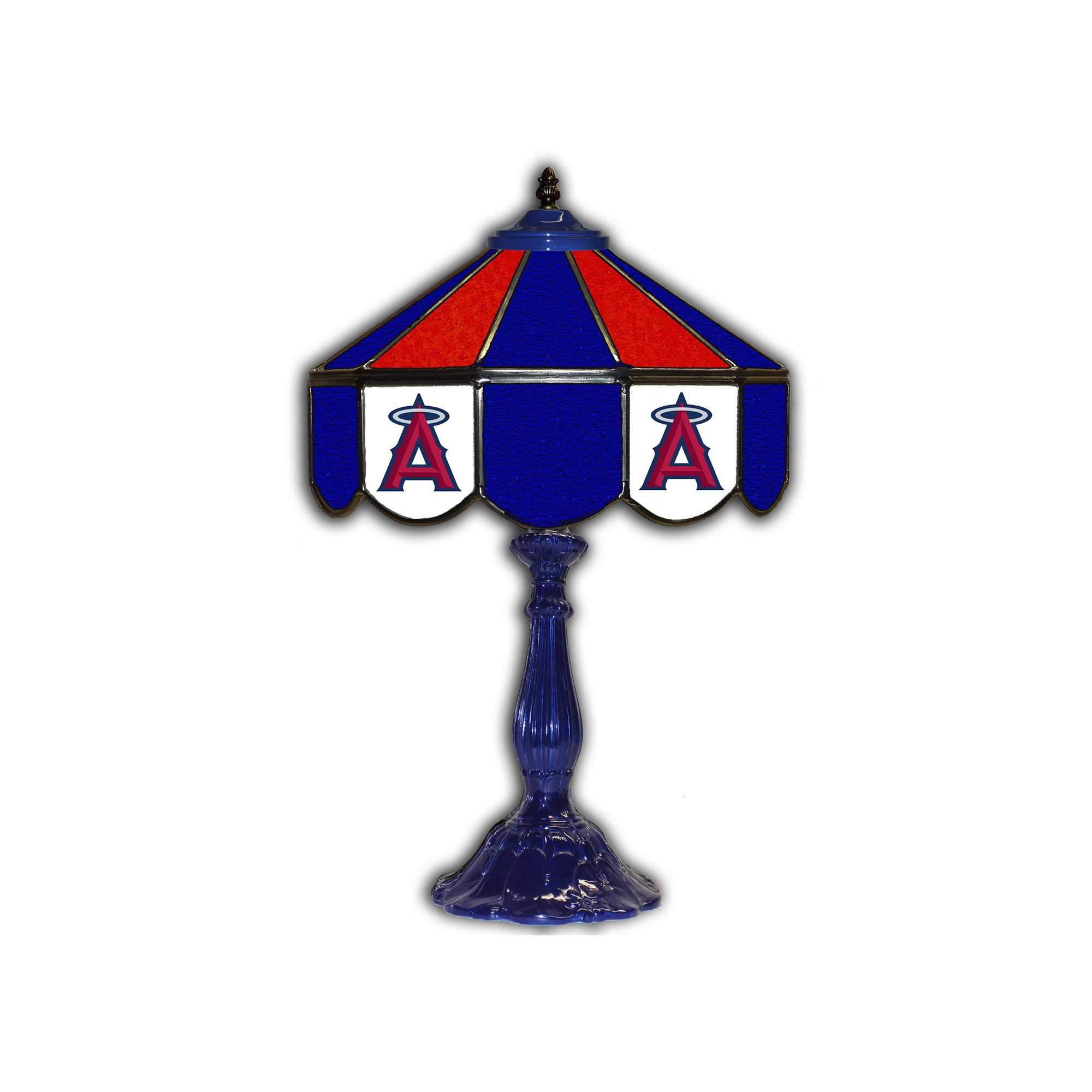 """LOS ANGELES ANGELS 21"""" GLASS TABLE LAMP"""