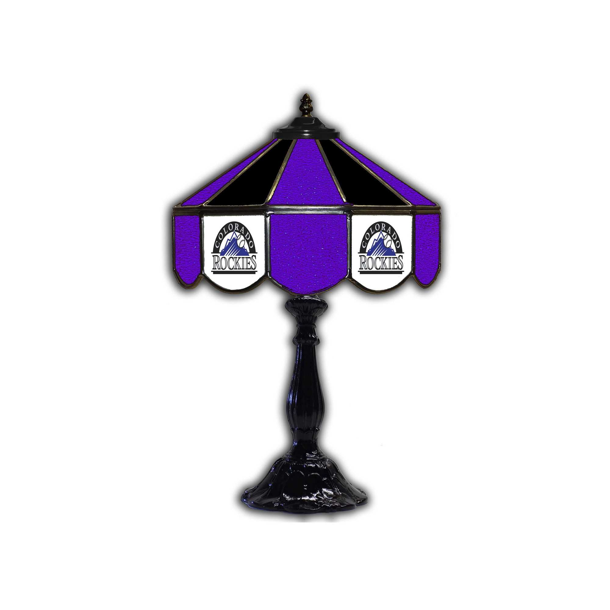 "COLORADO ROCKIES 21"" GLASS TABLE LAMP"