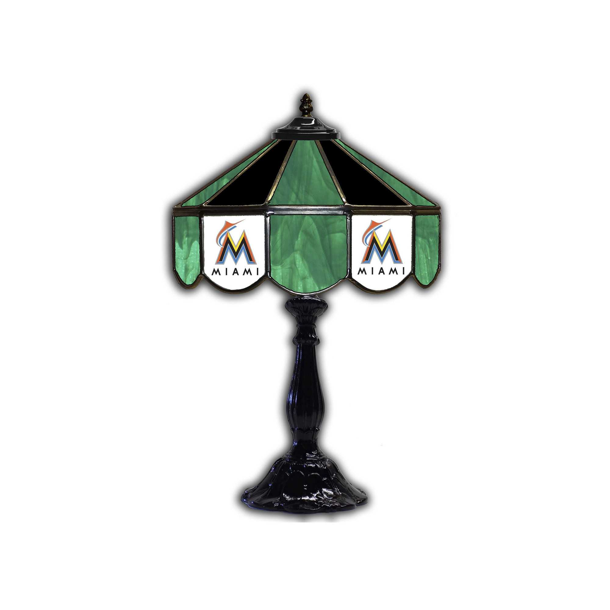 "MIAMI MARLINS 21""GLASS LAMP"