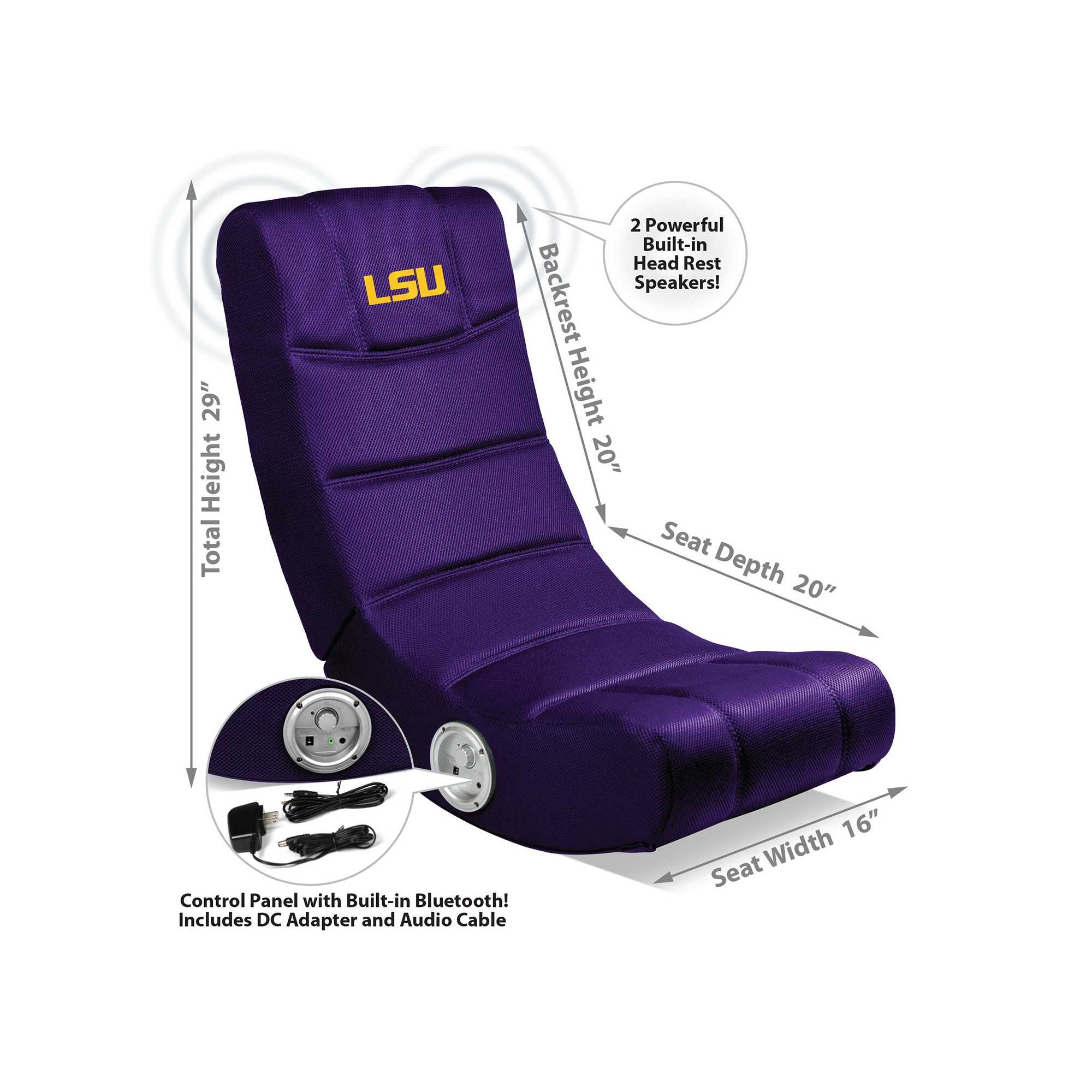 LSU Tigers Video Chair With Blue Tooth