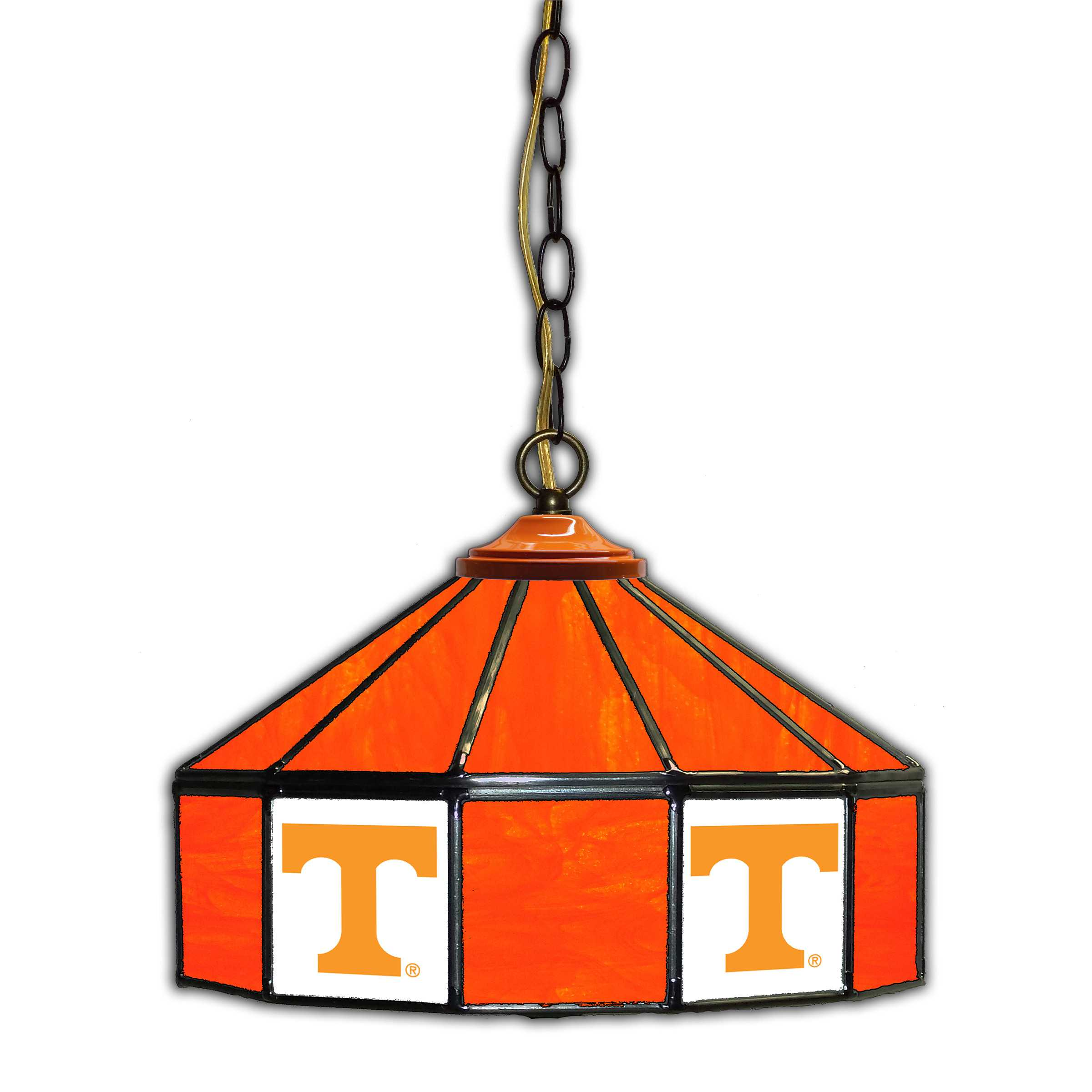 "UNIVERSITY OF TENNESSEE 14"" GLASS PUB LAMP"