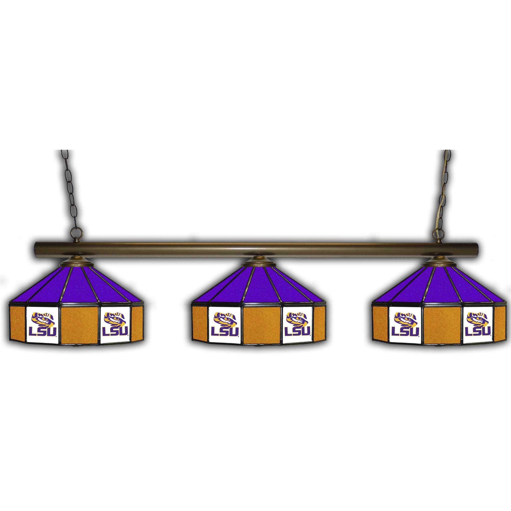 LSU TIGERS 3 SHADE GLASS LAMP