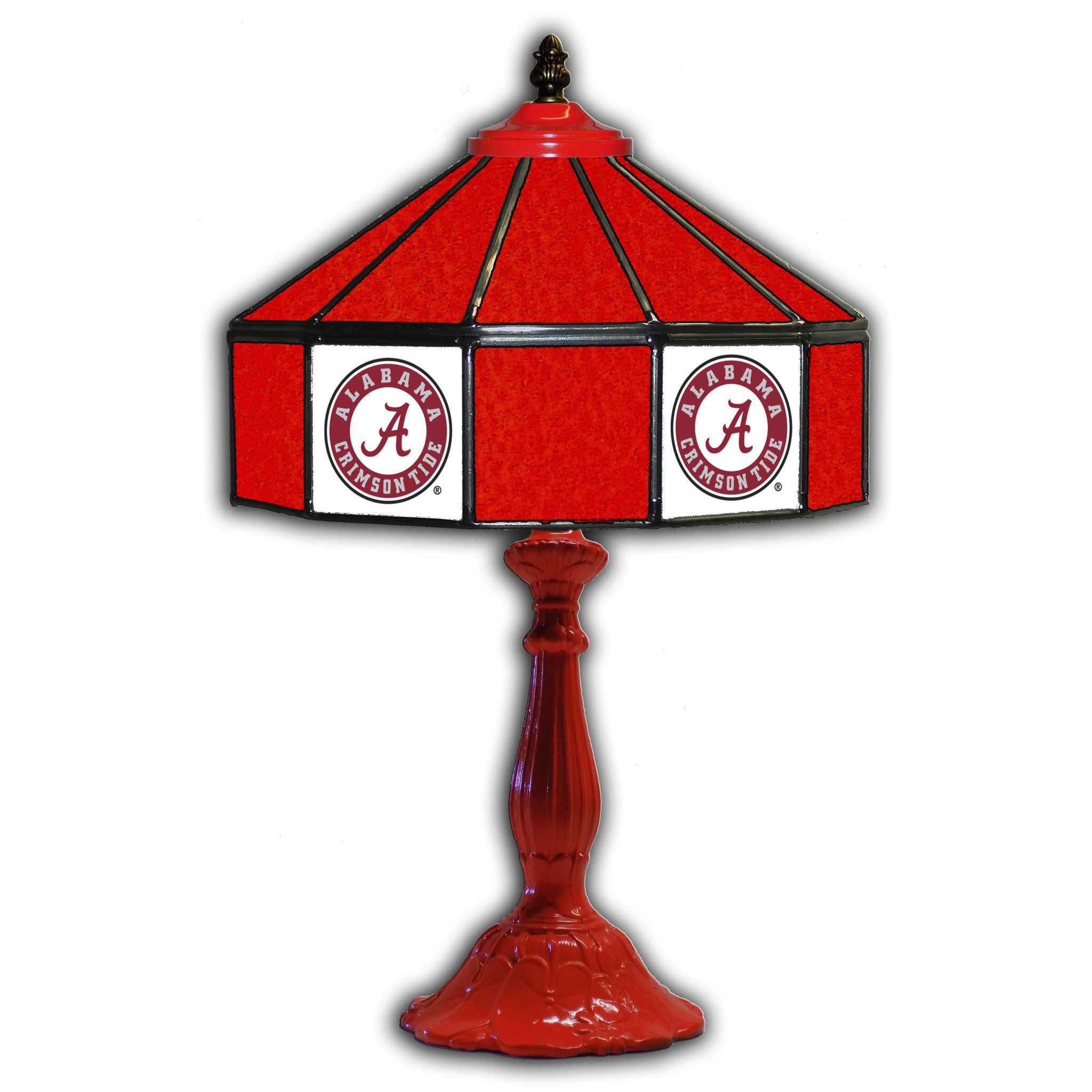 "ALABAMA UNIVERSITY 21"" GLASS TABLE LAMP"