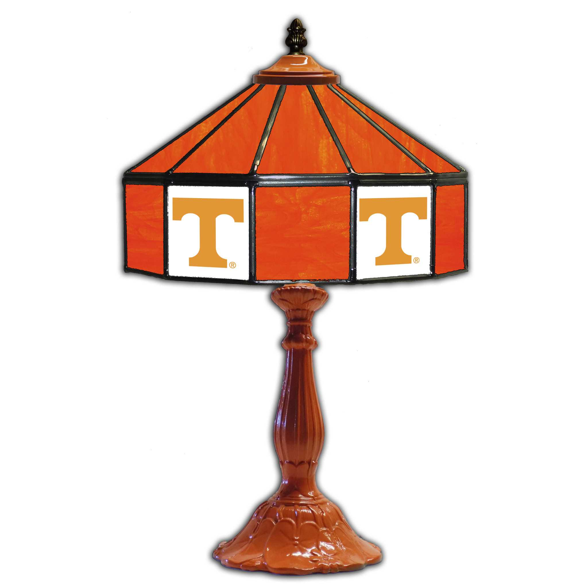 """UNIVERSITY OF TENNESSEE 21"""" GLASS TABLE LAMP"""