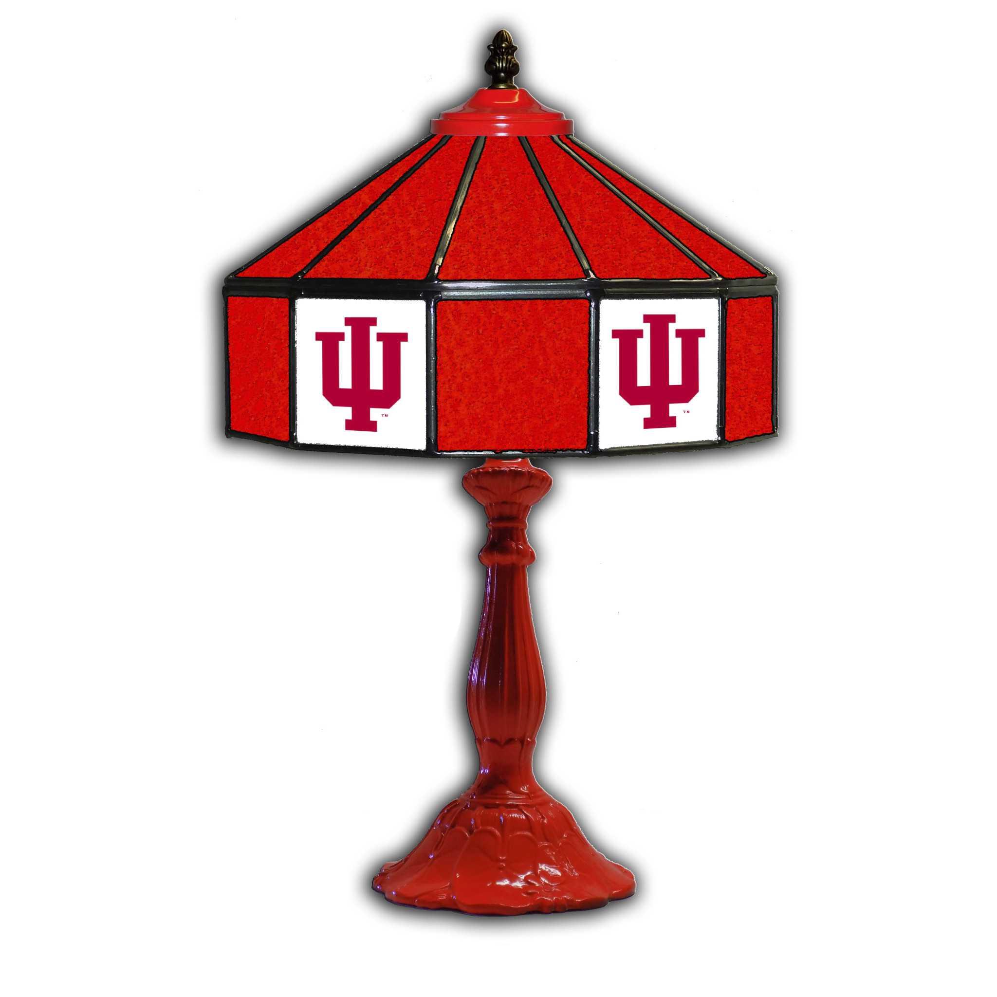 "INDIANA UNIVERSITY 21"" GLASS LAMP"