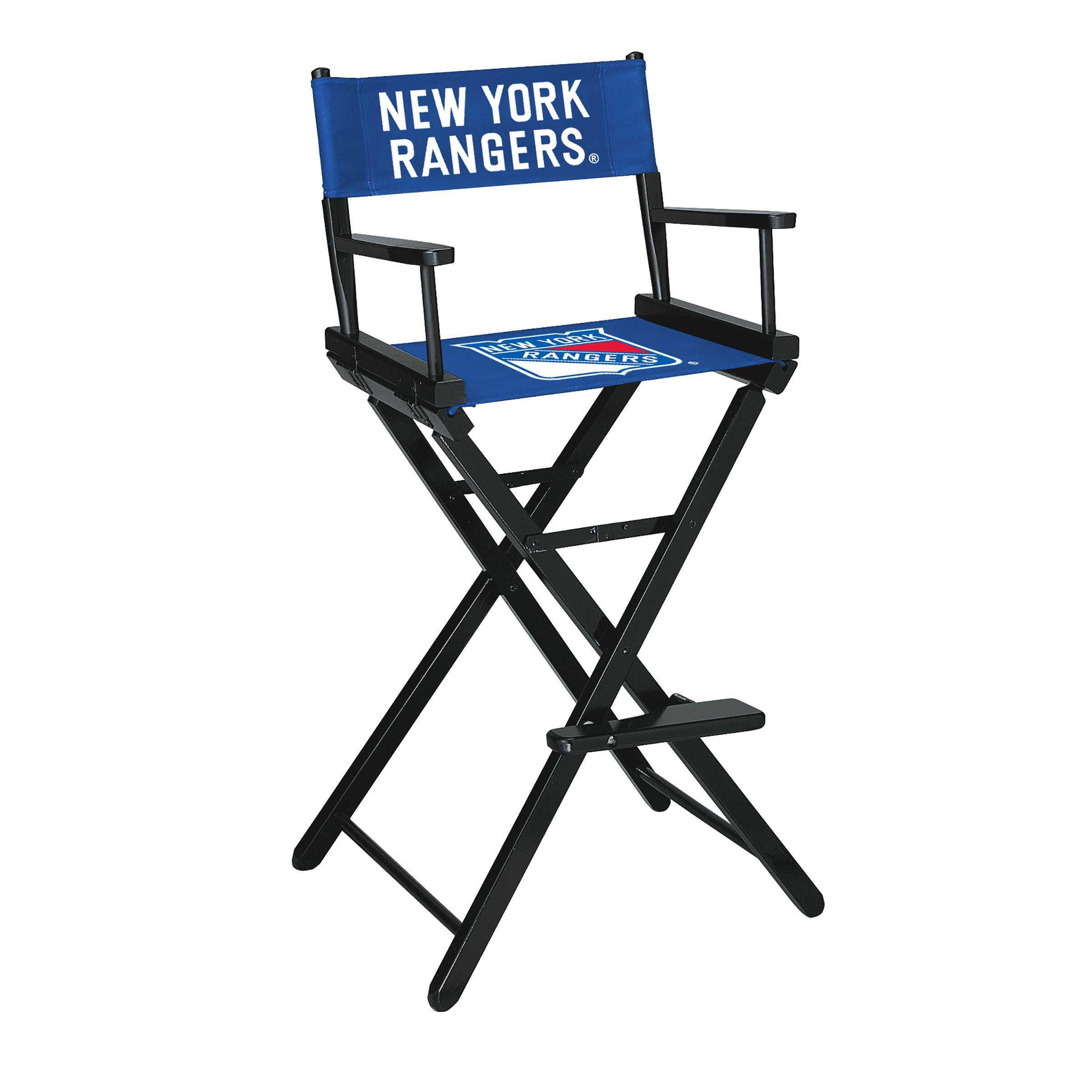 NEW YORK RANGERS BAR HEIGHT DIRECTORS CHAIR